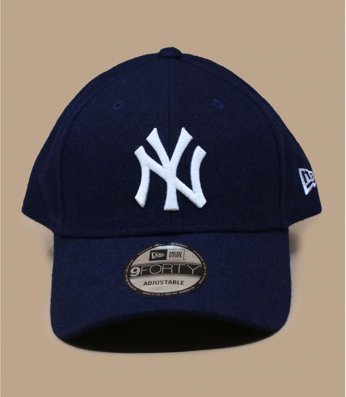 blue wool NY cap