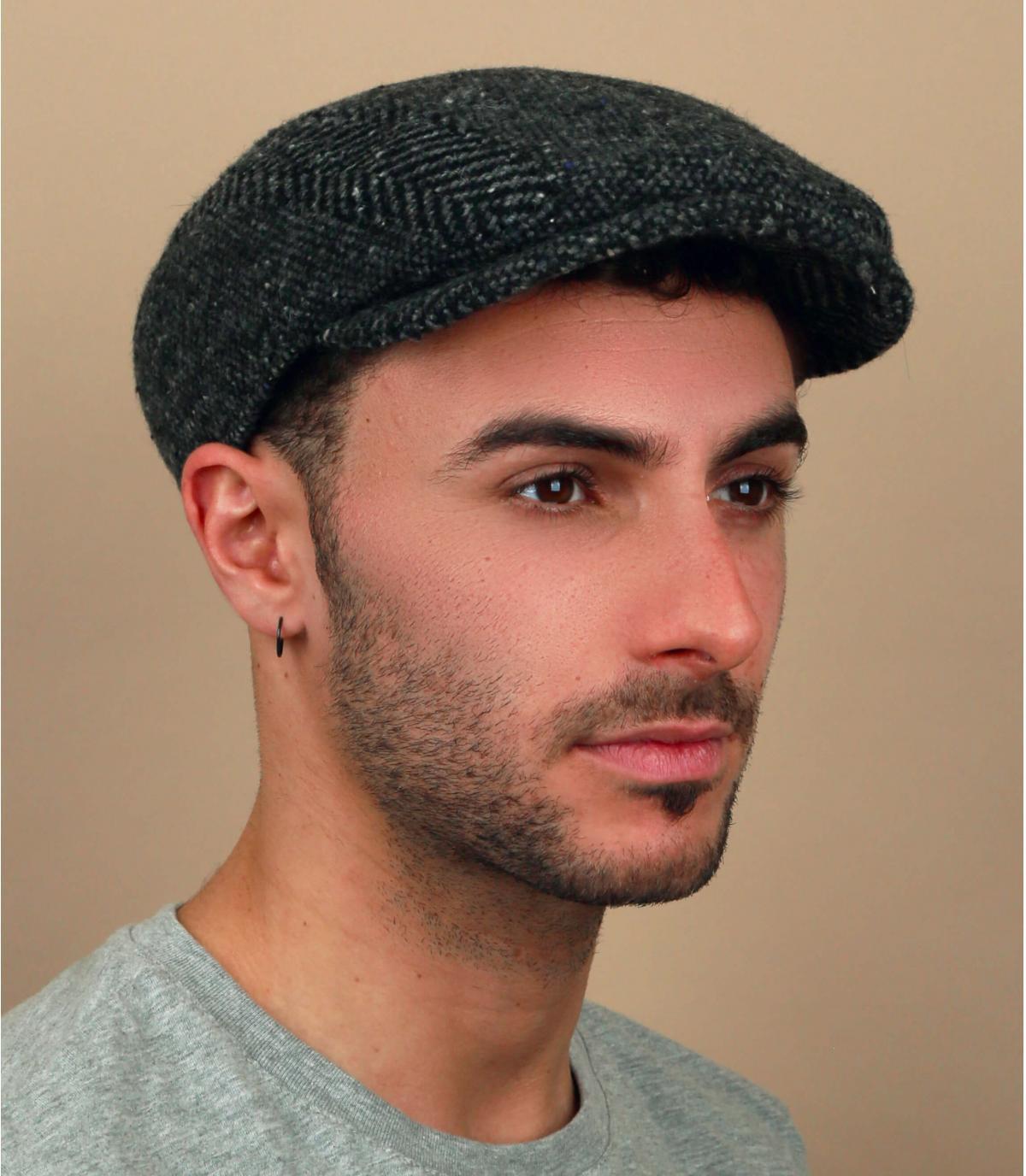 heather grey wool cap