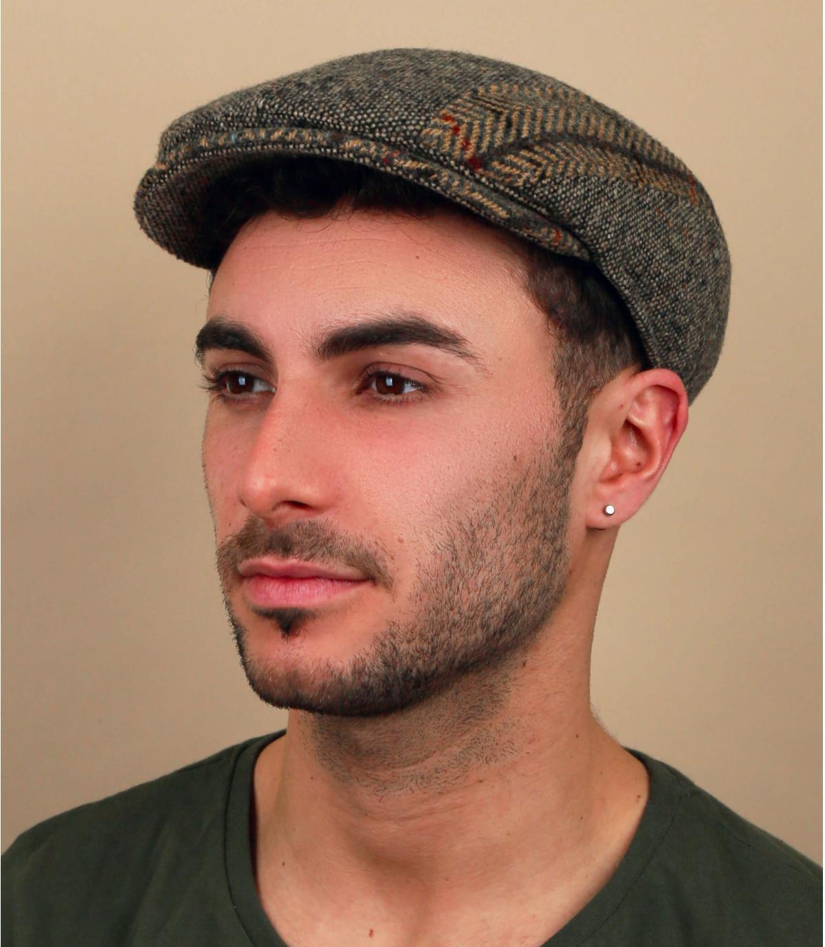 heather beige wool cap
