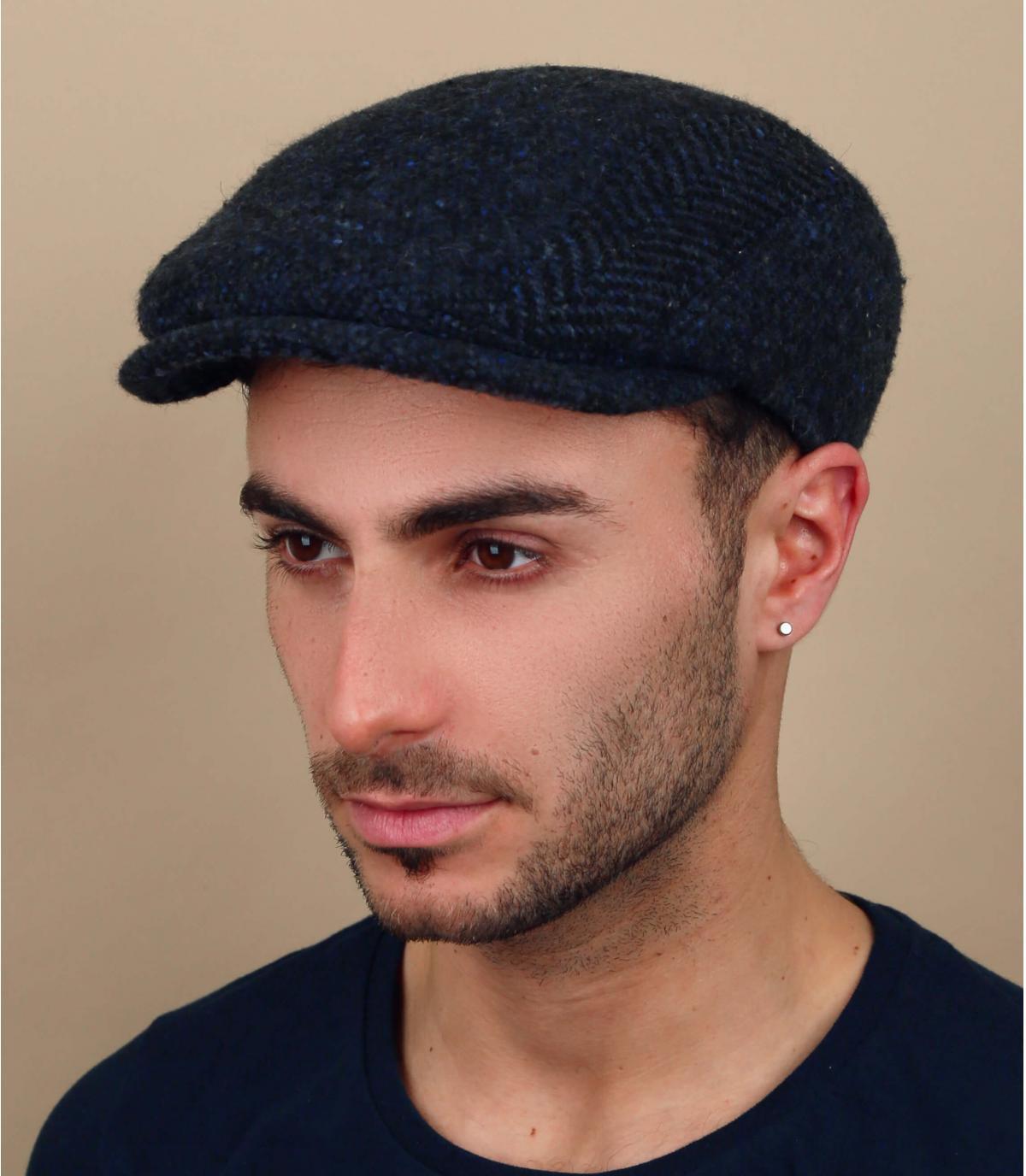 navy blue wool cap