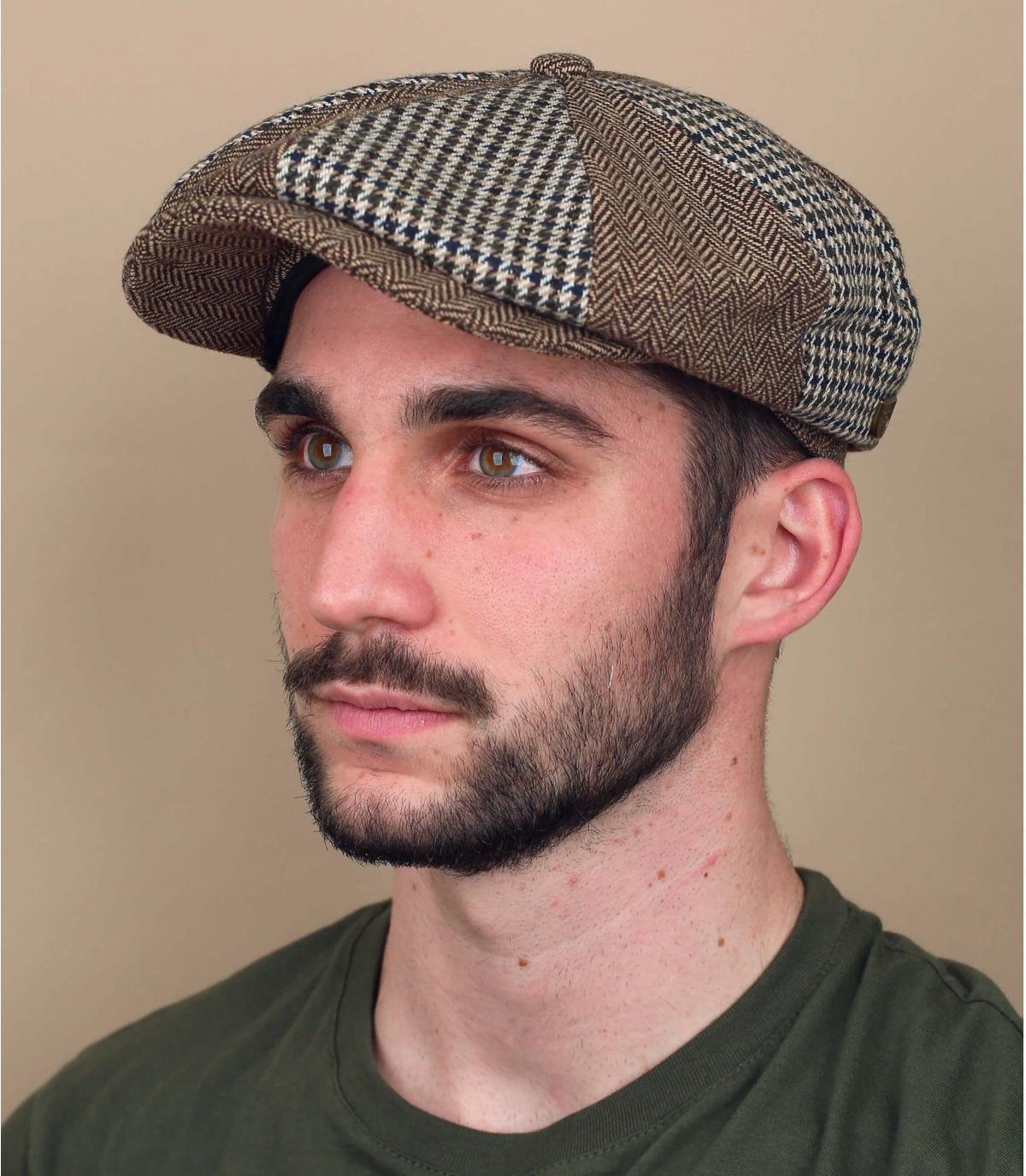 Brixton patchwork newsboy cap