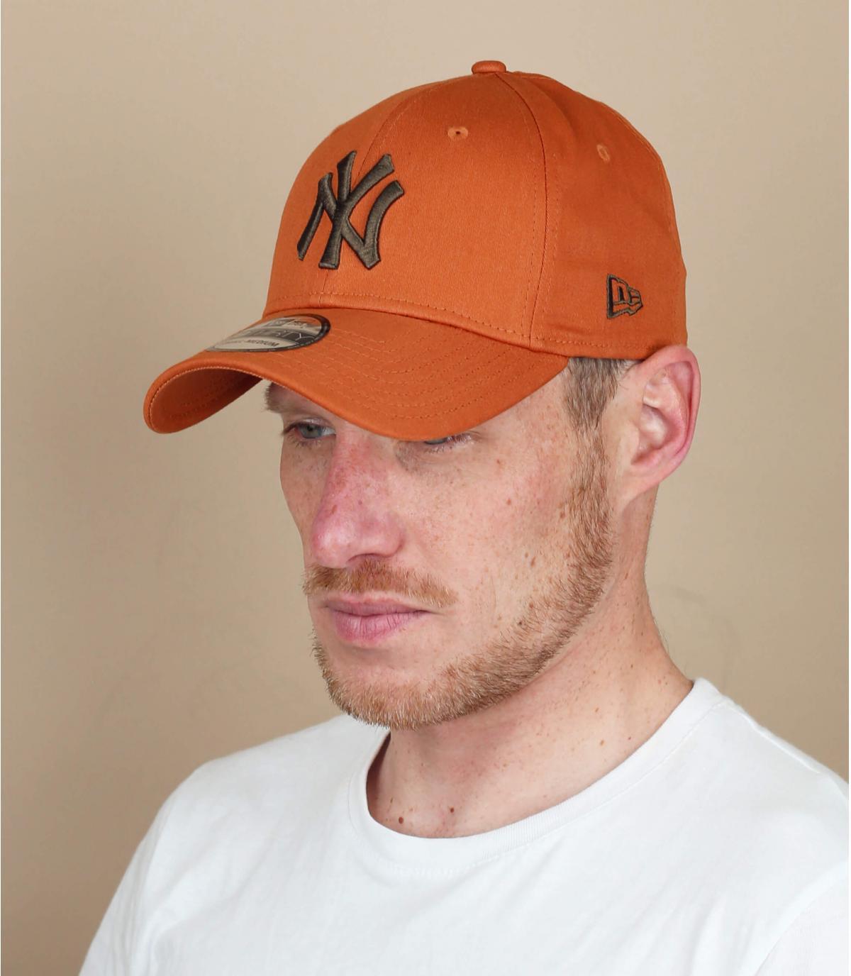 beige NY stretch cap
