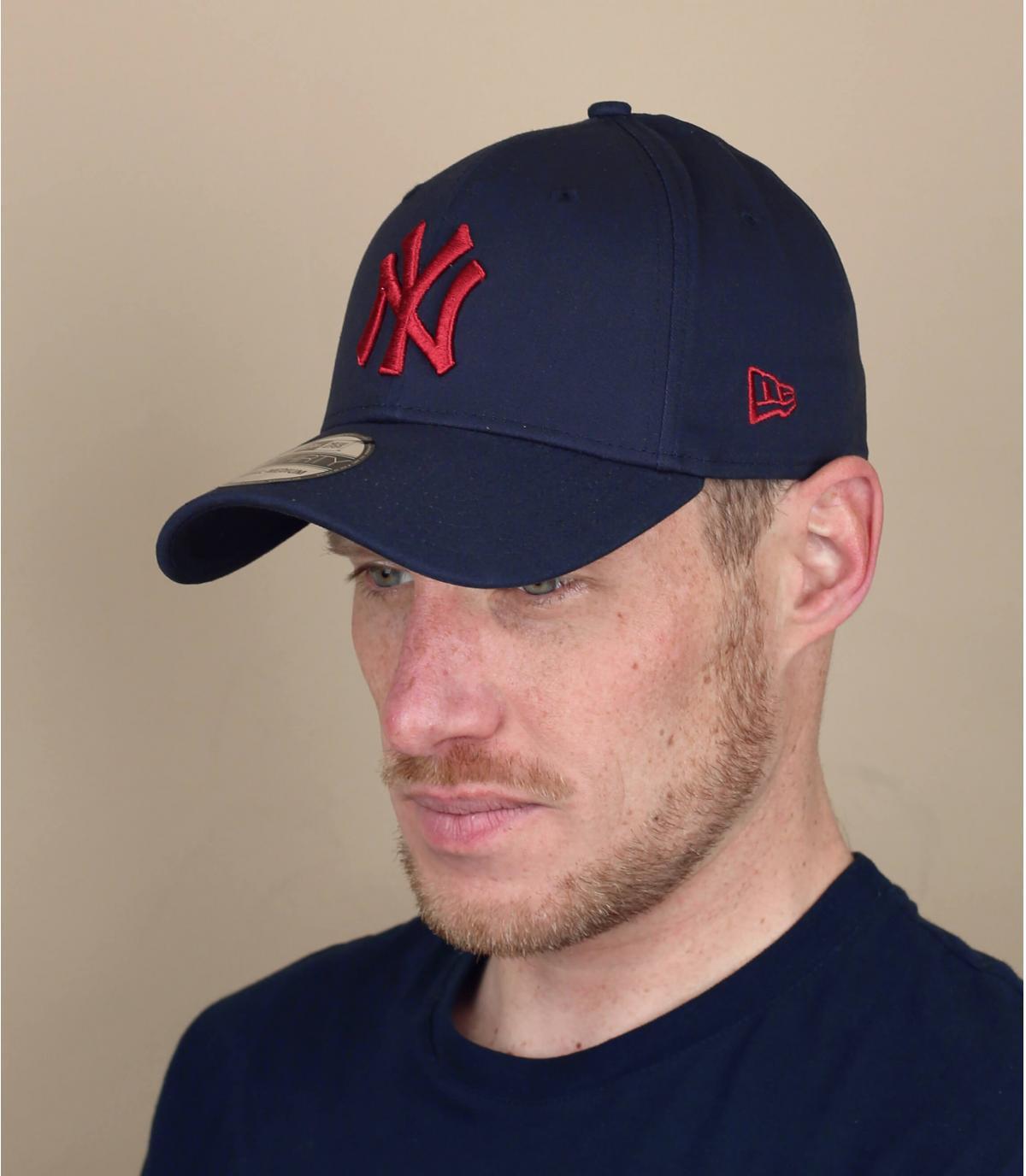 red blue NY cap