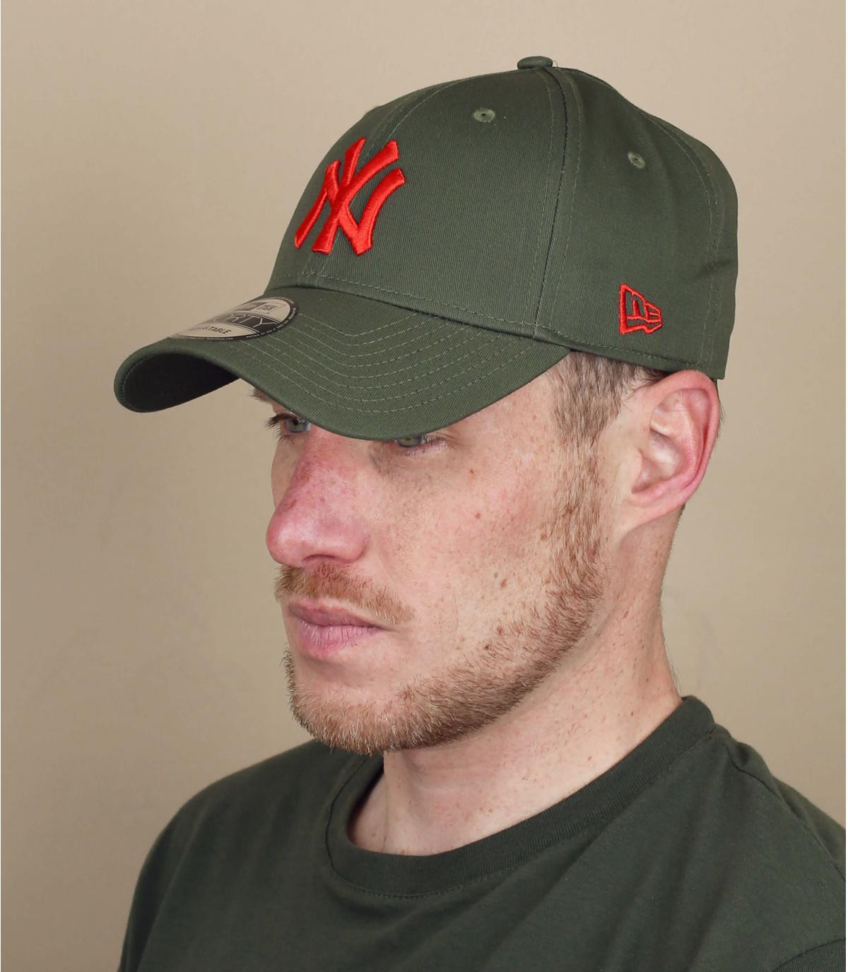 green red NY cap