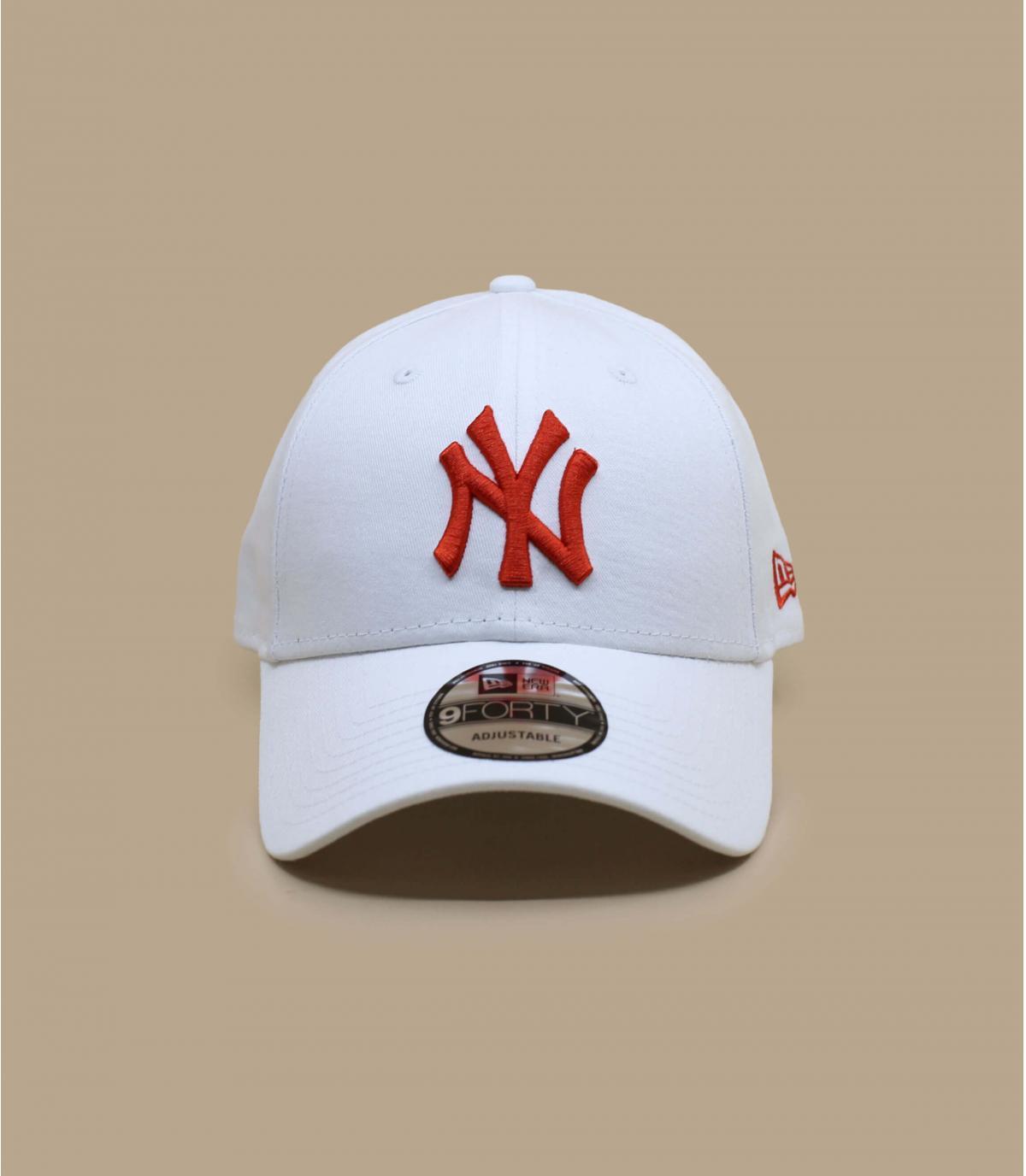 White red NY cap