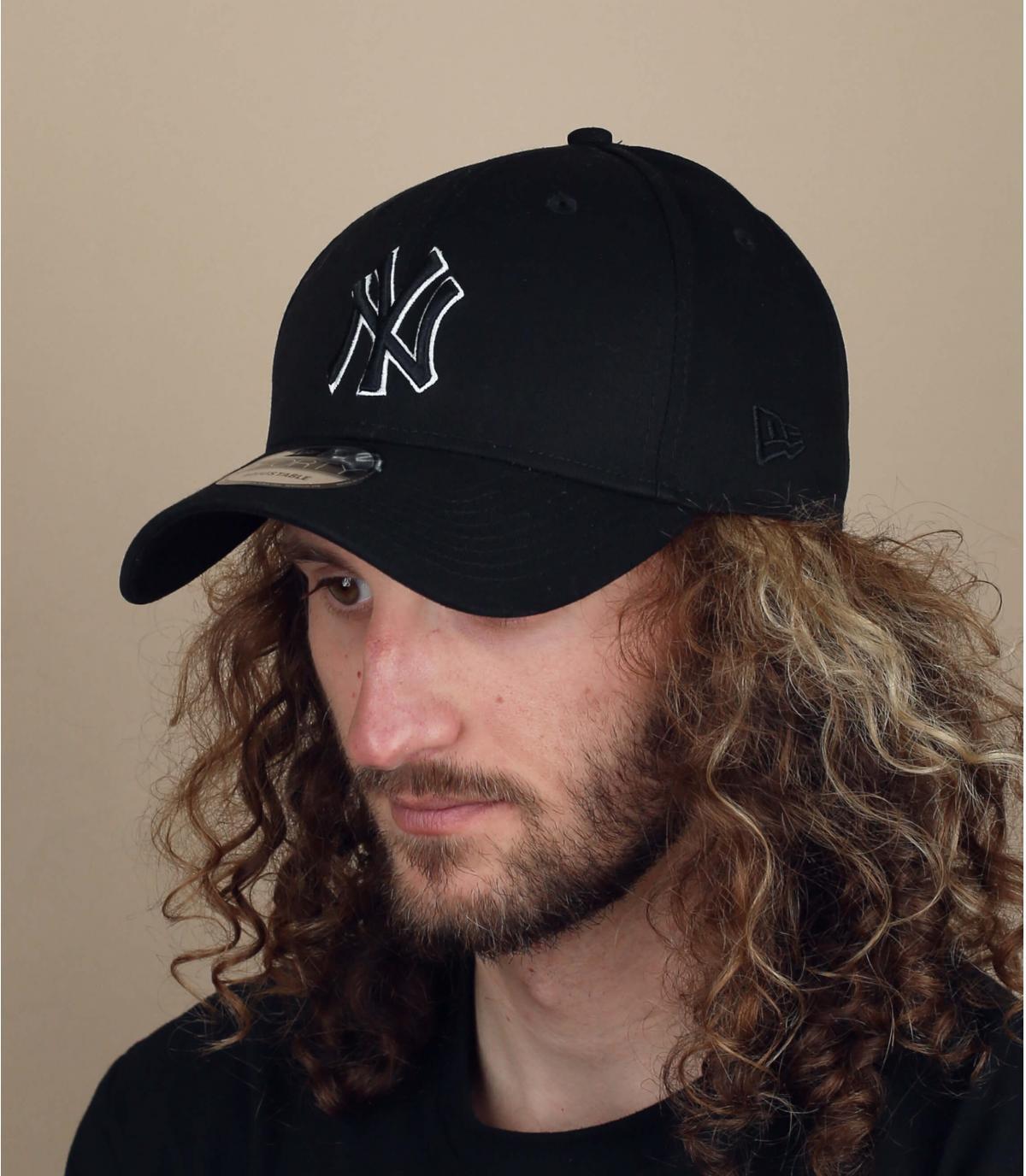 black NY cap