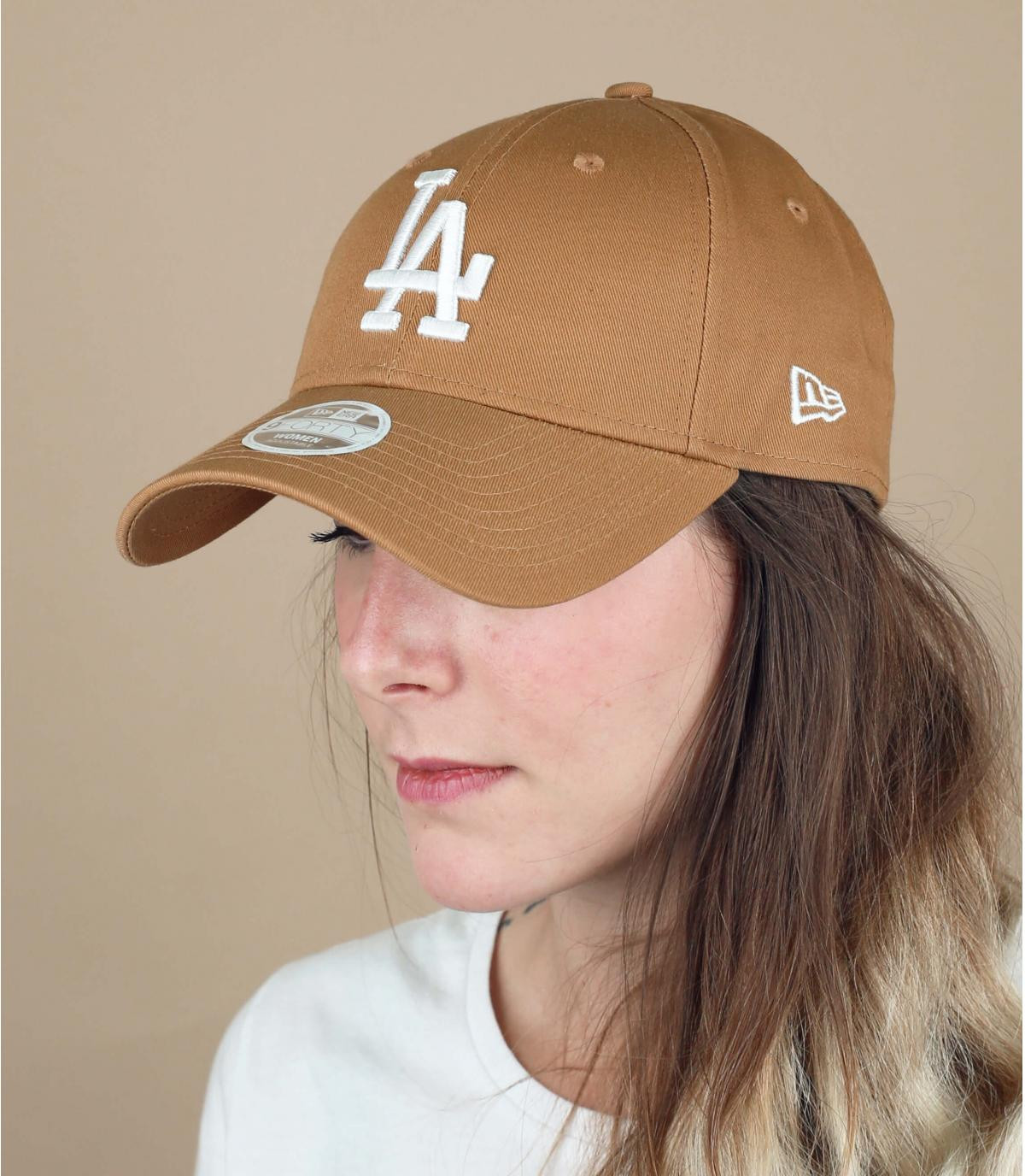beige women cap LA
