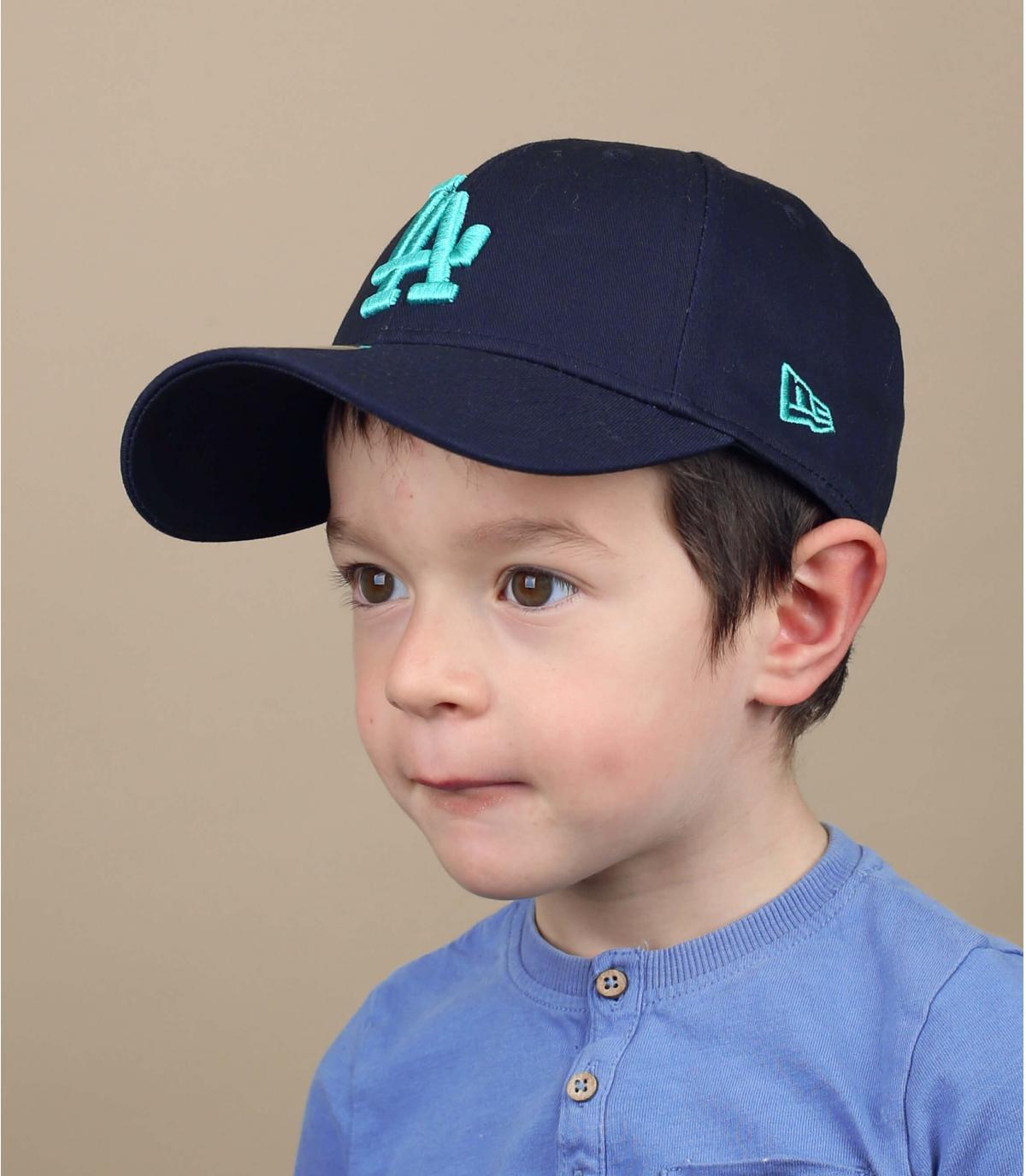 blue LA cap kid