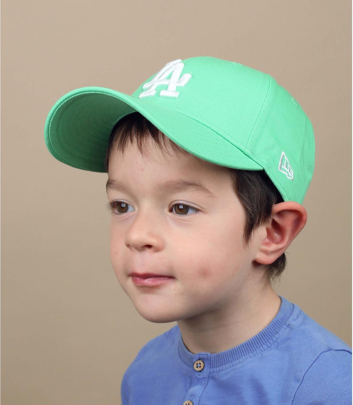 Blue  green LA child cap