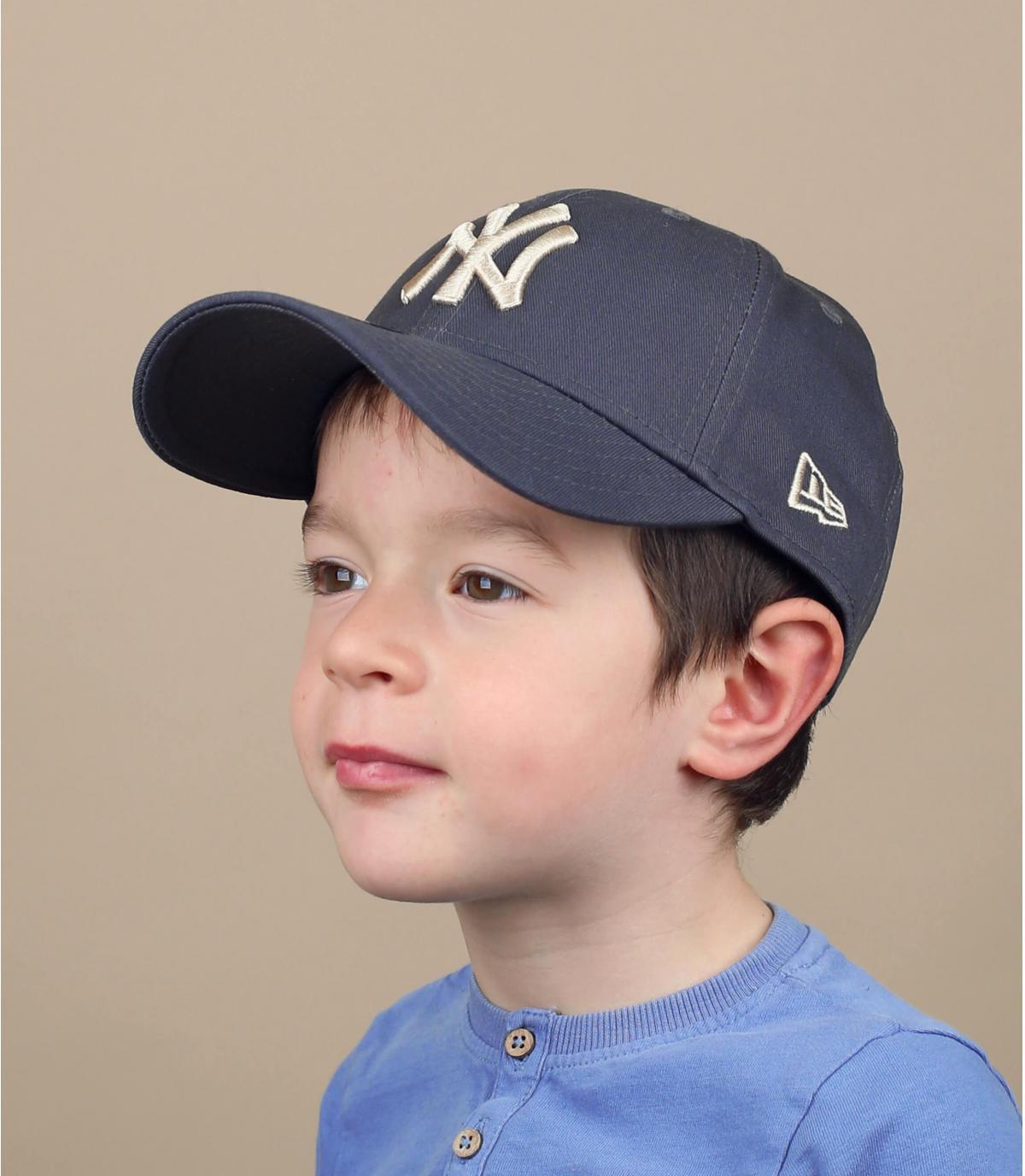 grey NY kids cap