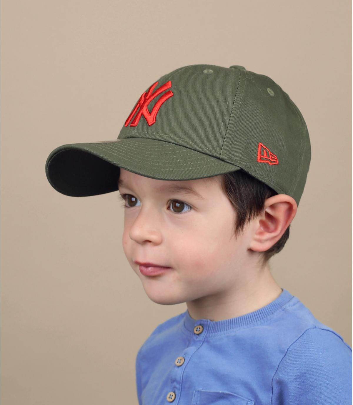 child green NY cap