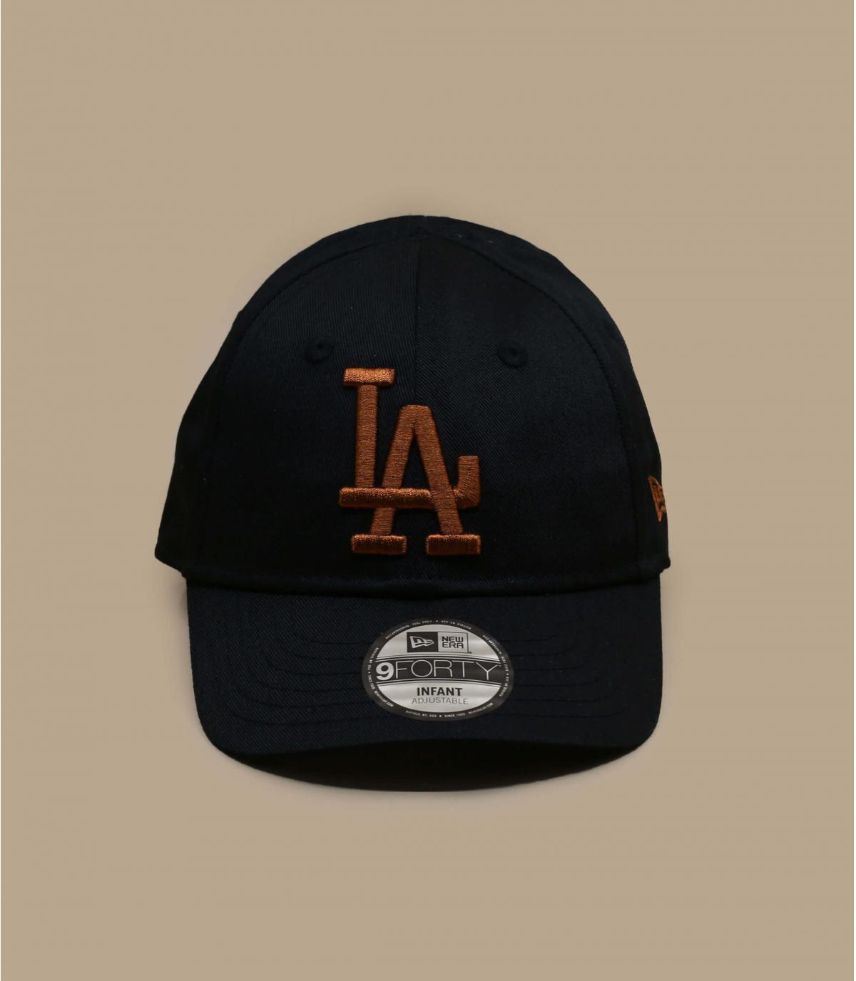 black LA baby cap