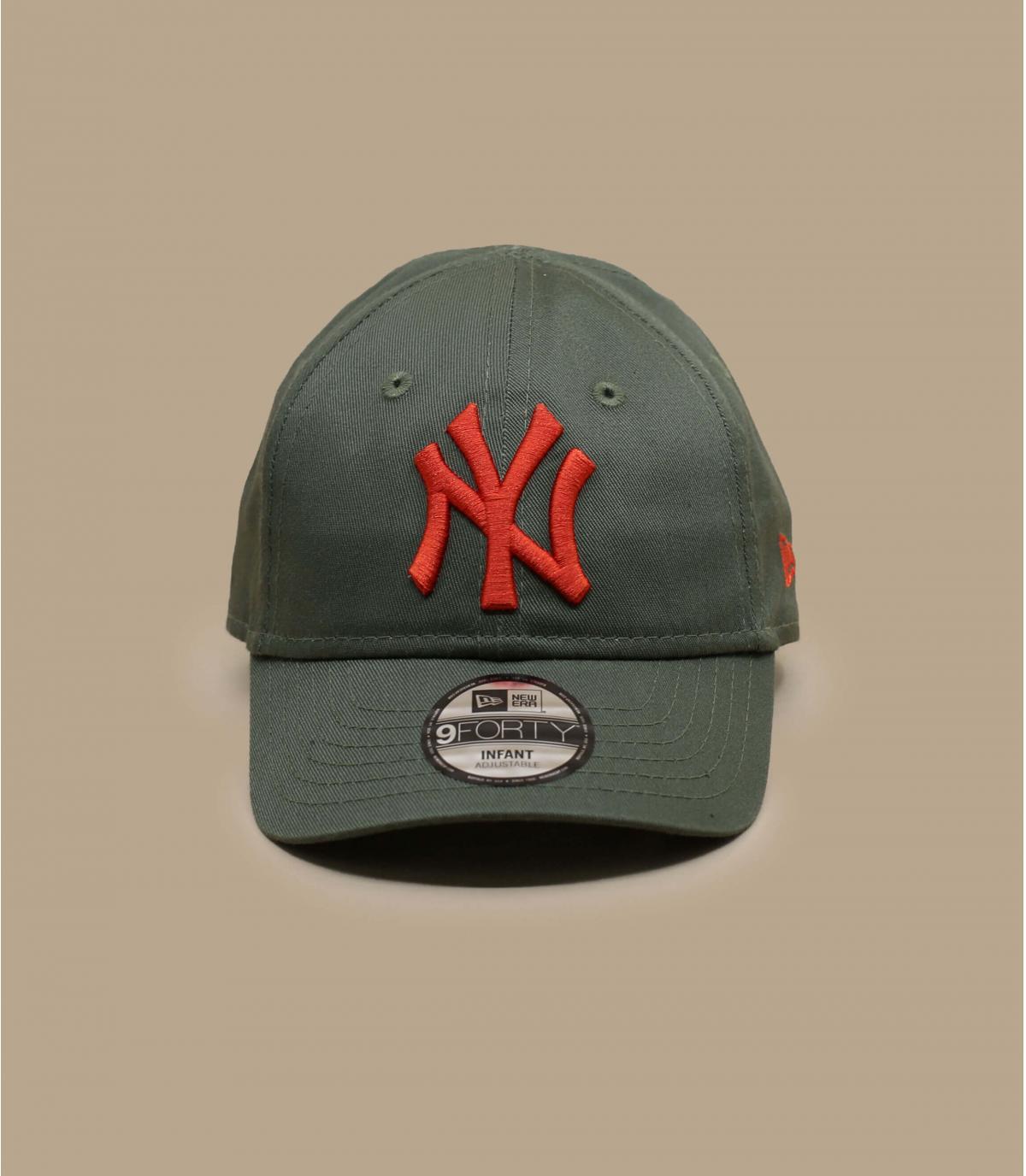 green NY baby cap