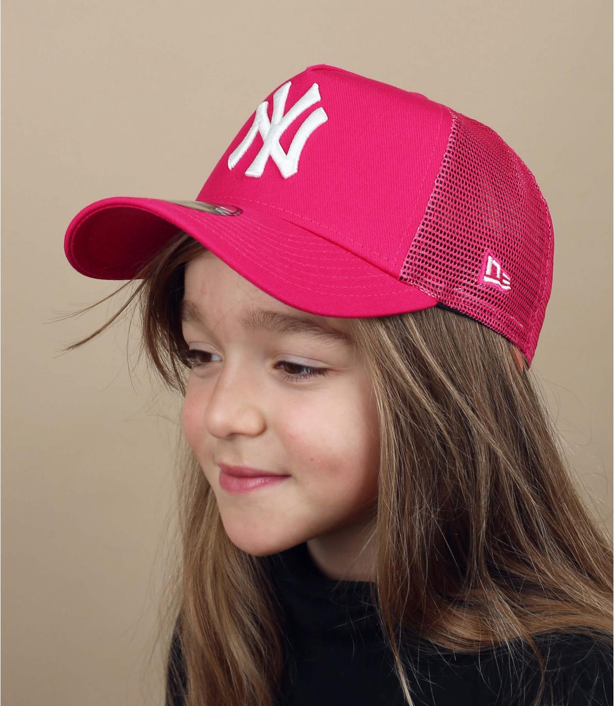 pink NY trucker kids
