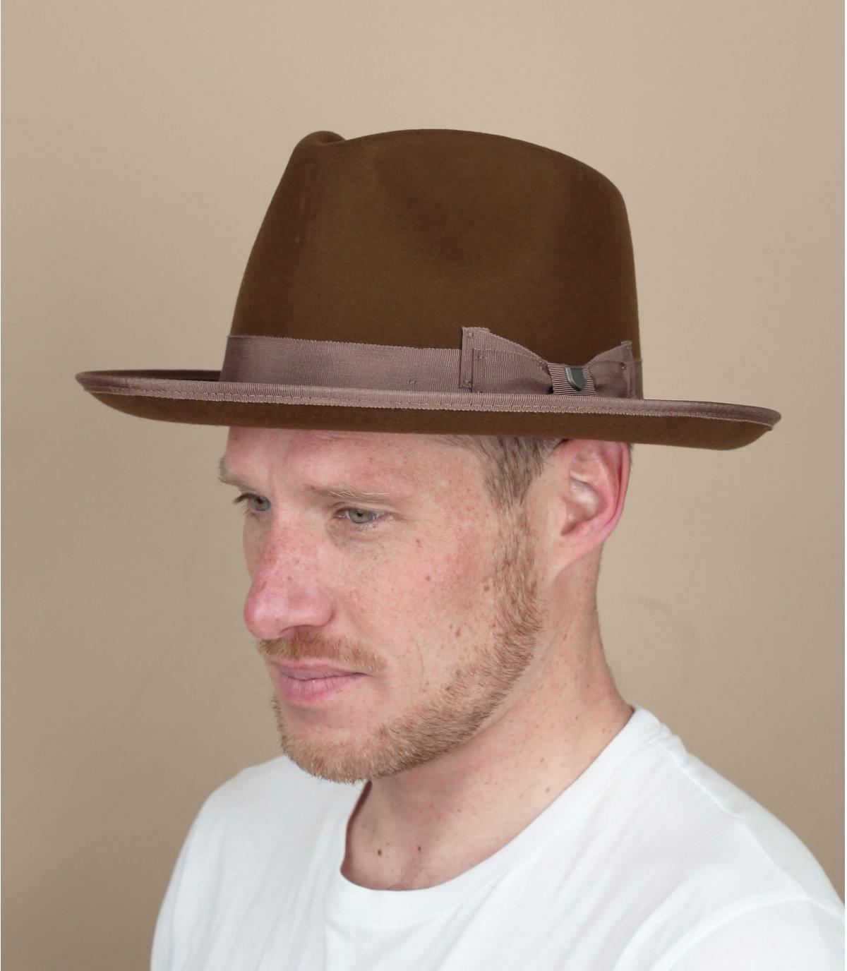Brixton brown Norfolk hat