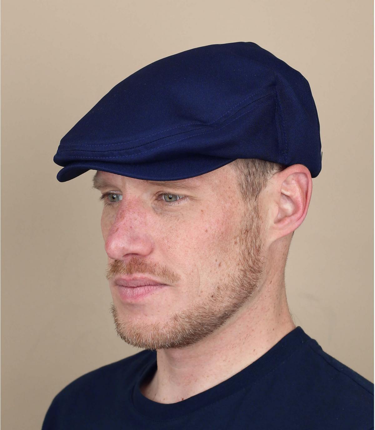 navy blue flat cap Brixton