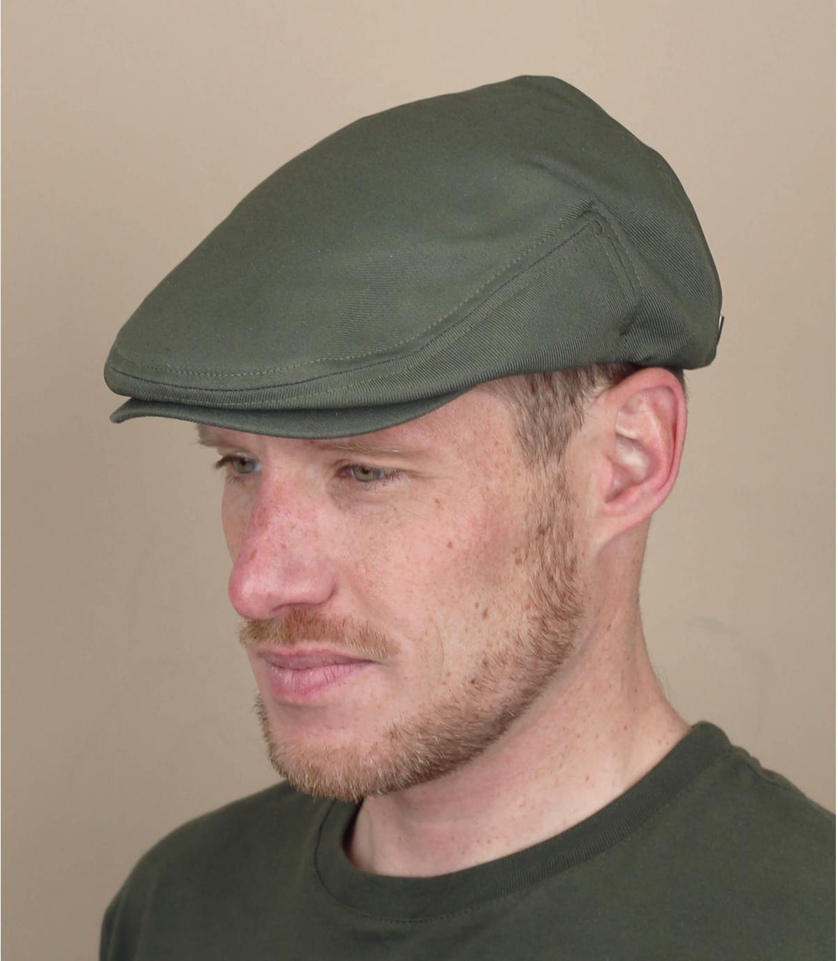 flat cap green Brixton