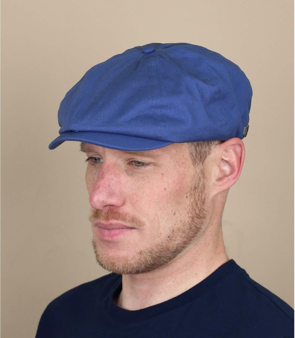 Blue newsboy cap Brixton