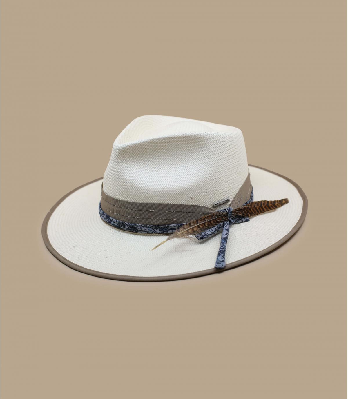 Stetson straw hat white
