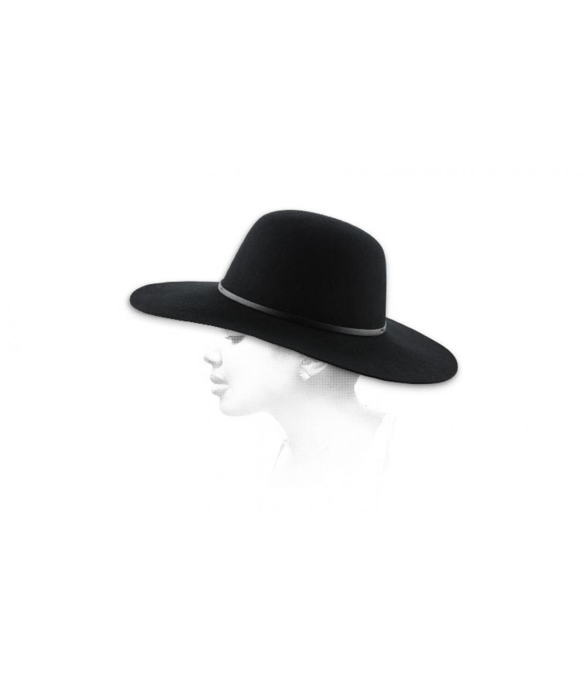 Black women hat