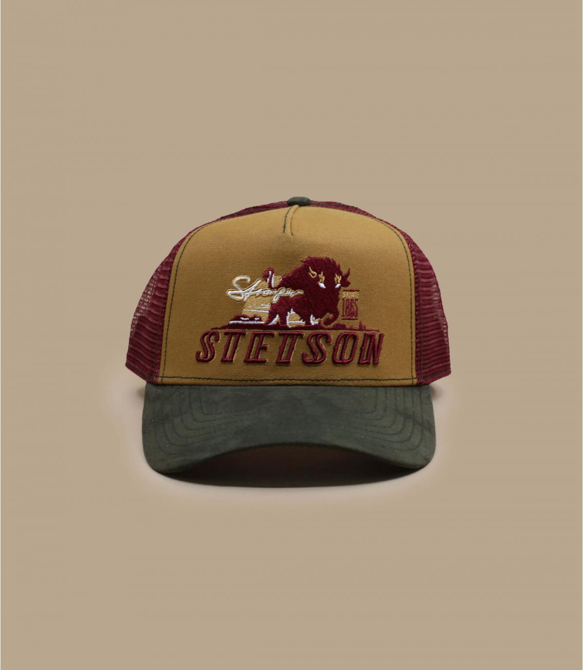 Stetson buffalo trucker cap