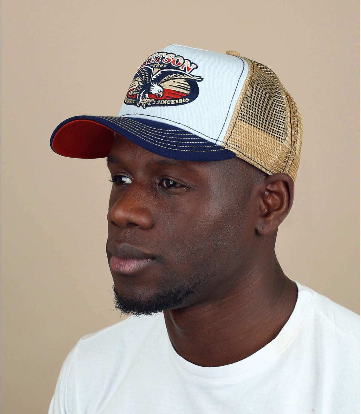 Stetson eagle trucker cap