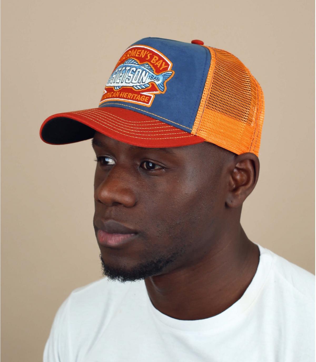 Stetson fish trucker cap
