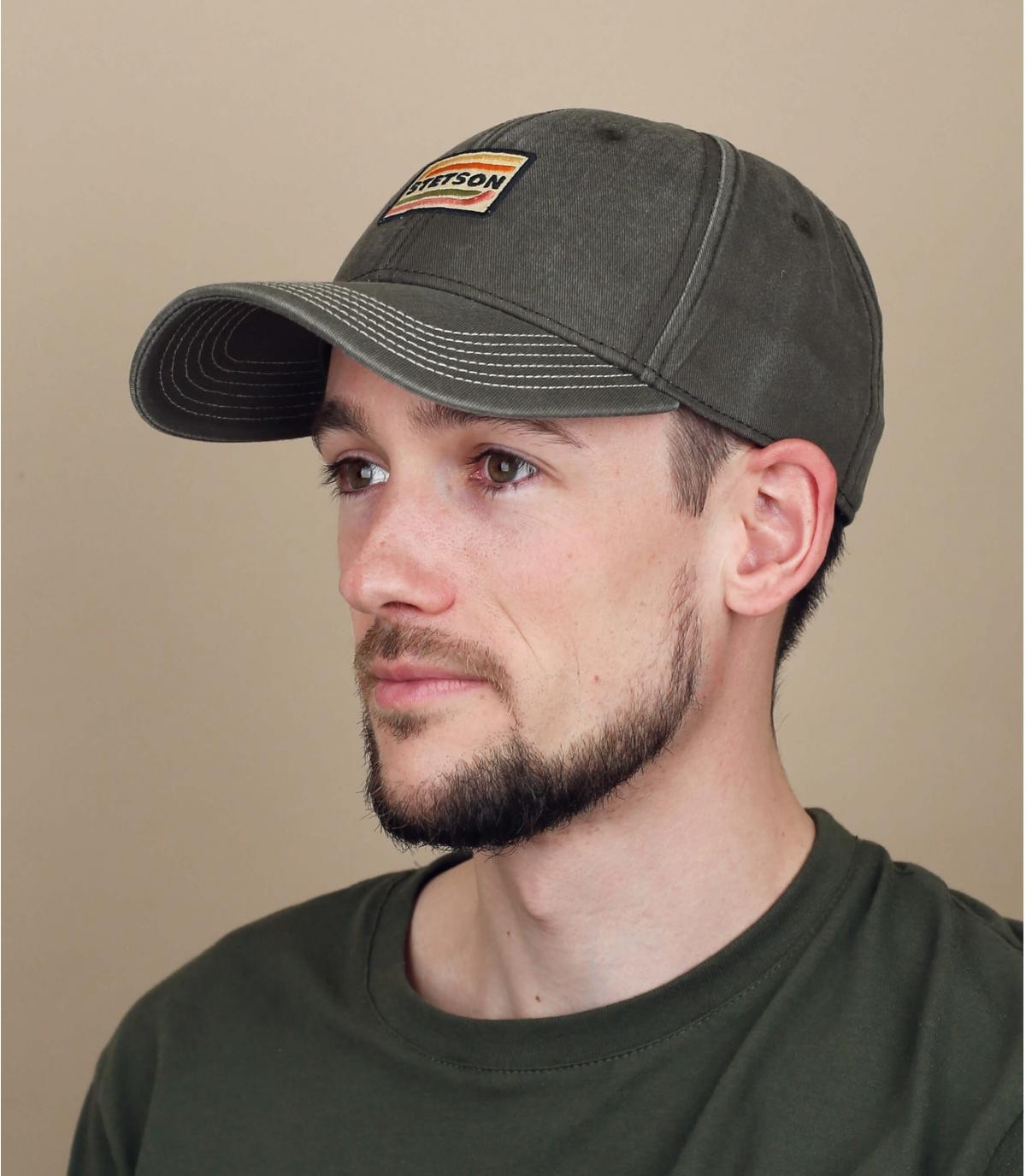 grey Stetson cap
