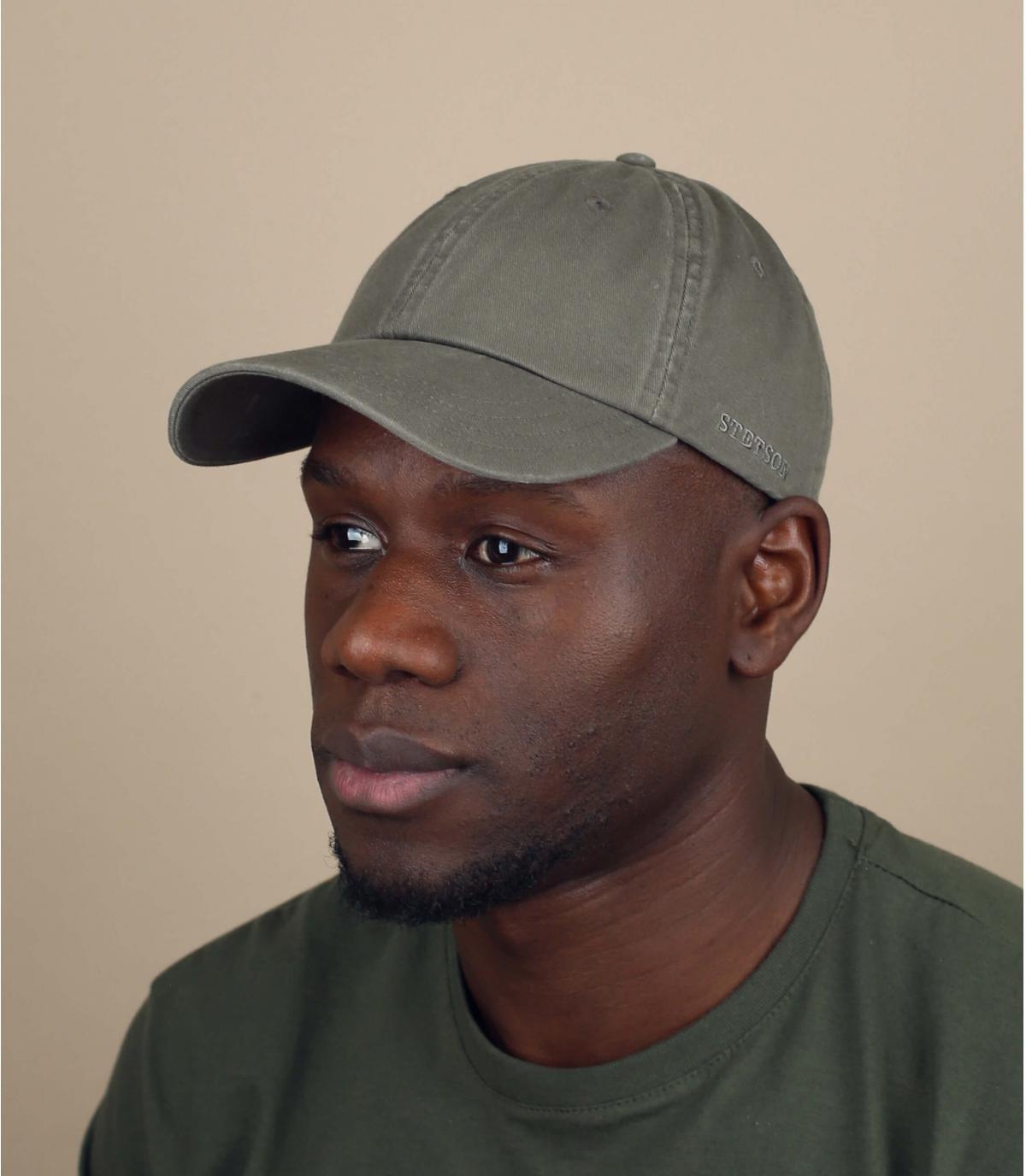 green Stetson cap