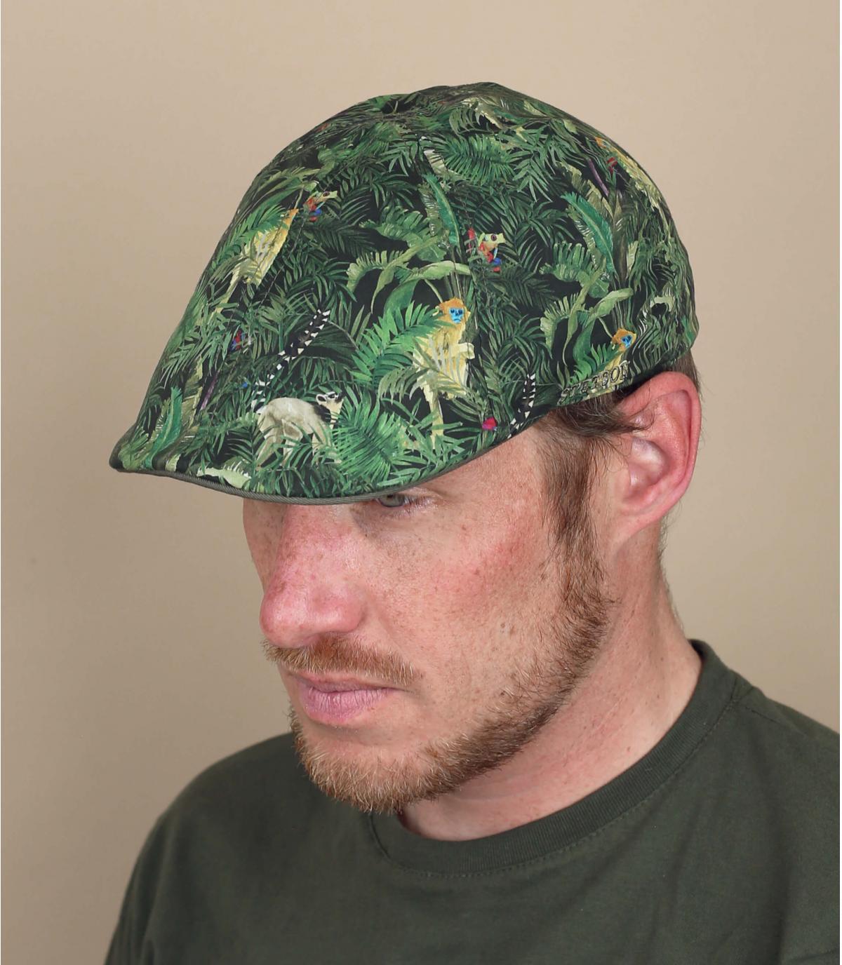 printed flat cap Stetson