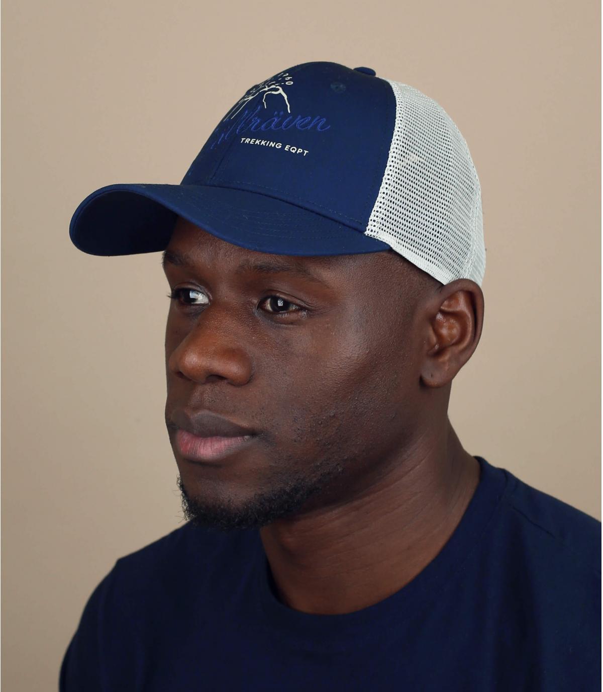blue Fjällräven trucker cap