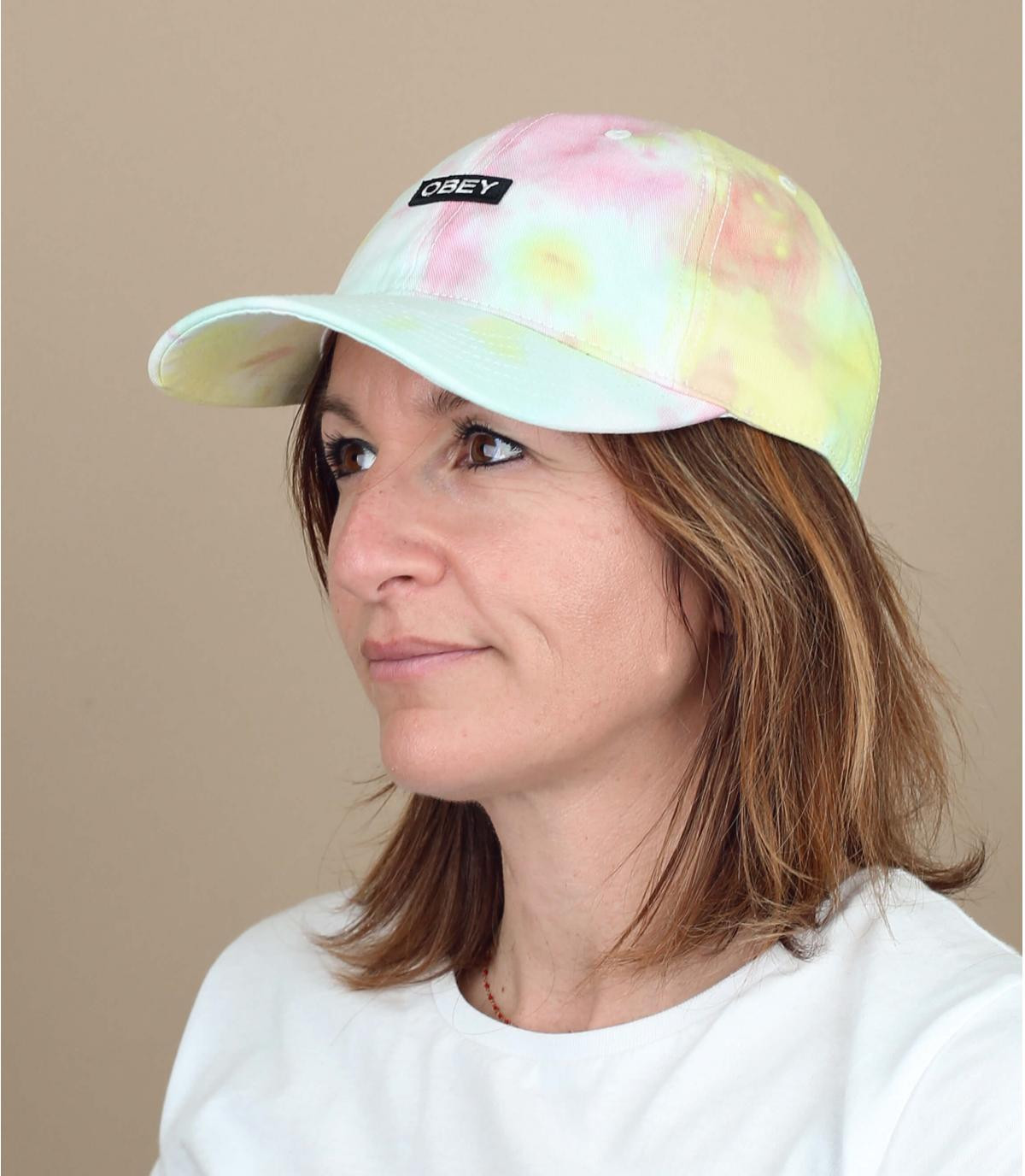 tie and dye cap Obey