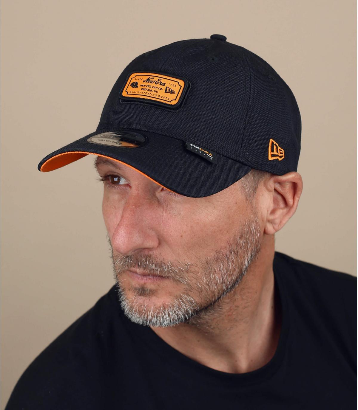 Black orange New Era cap