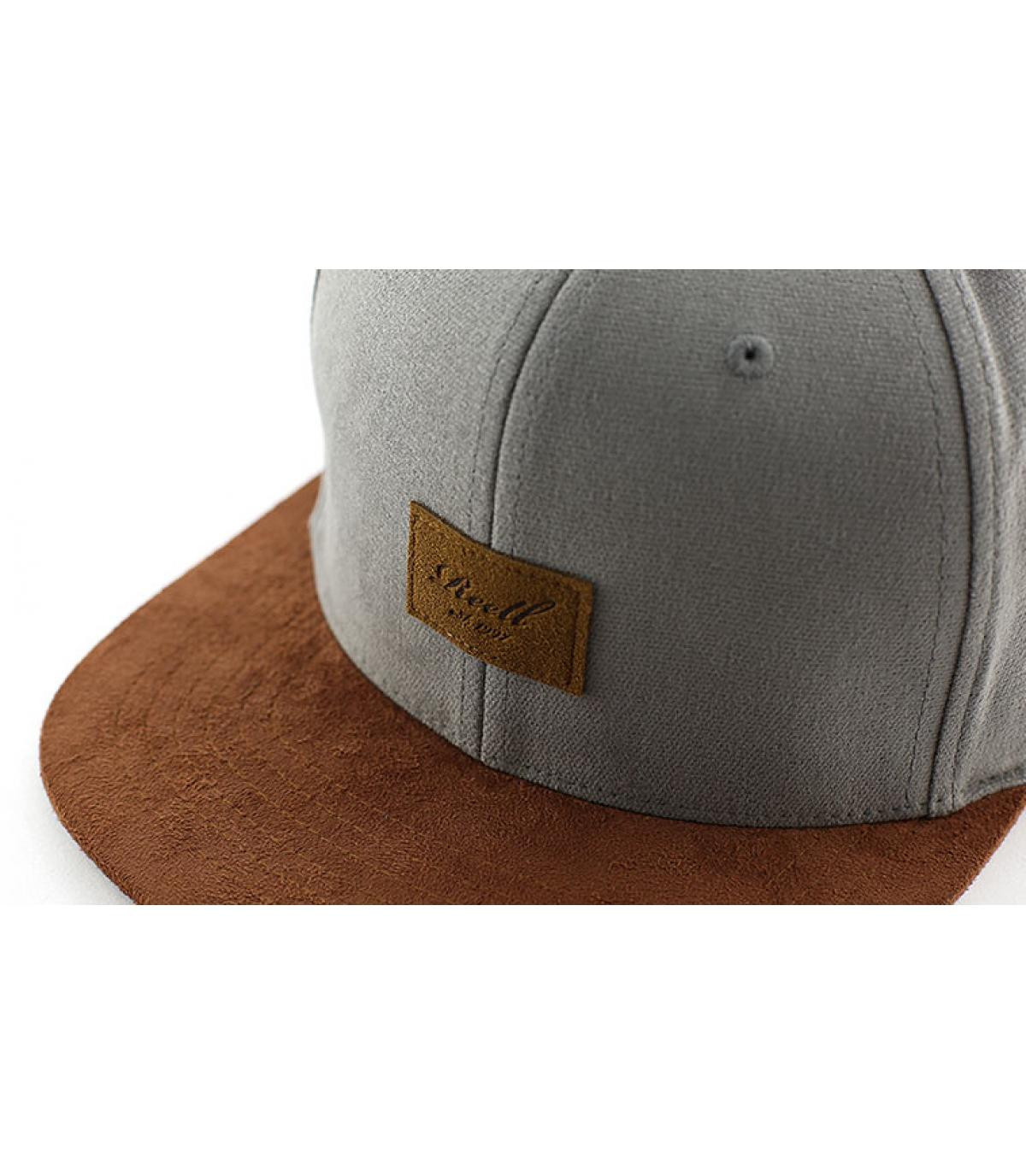 Grey men snapback - Suede steel grey by Reell. d03f4a7ad8d