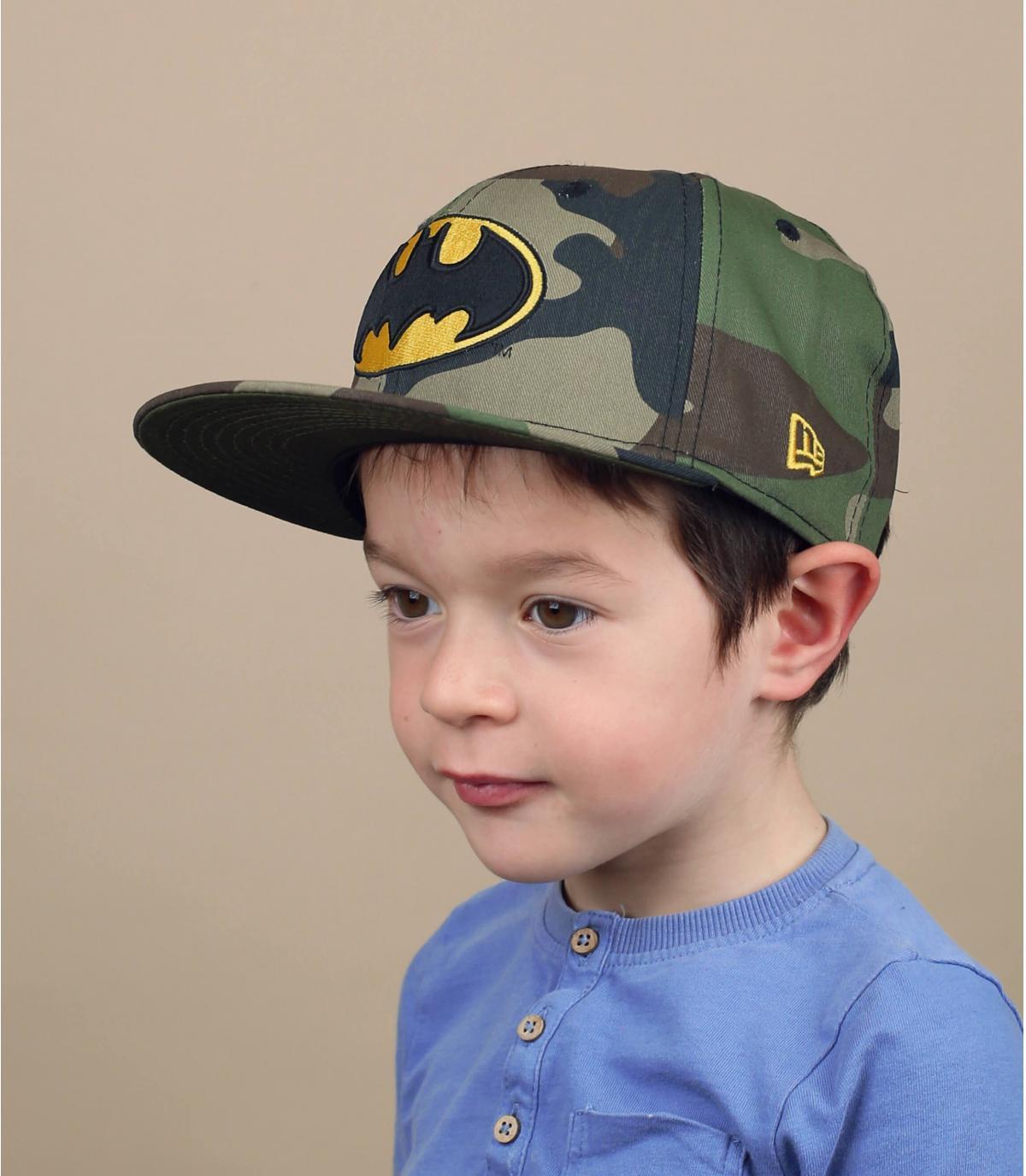 Batman camo kid snapback