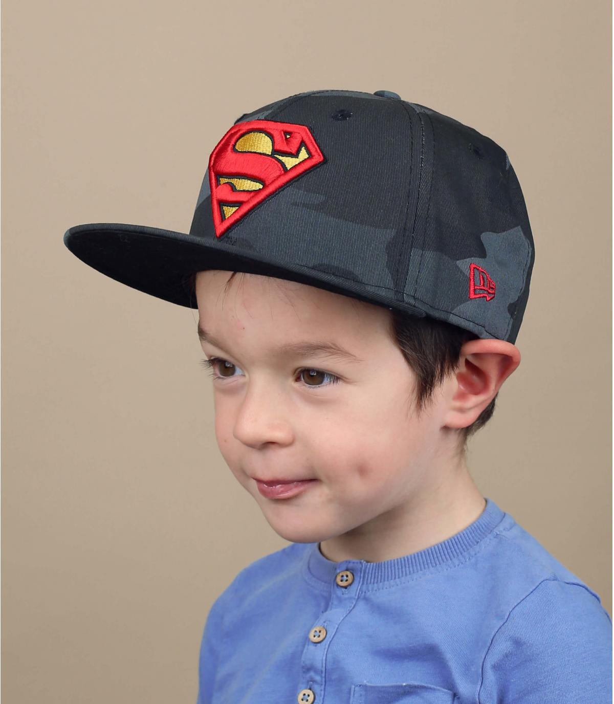 Superman camo kid cap