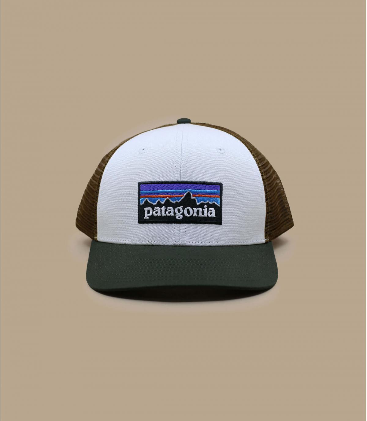 white Patagonia trucker