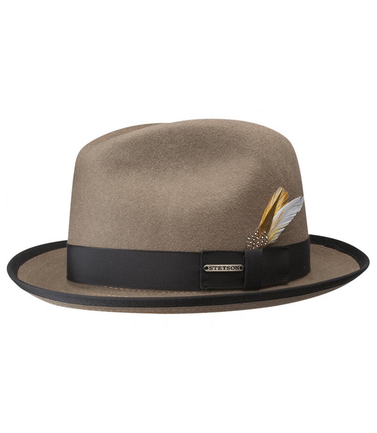 Brown Stetson hat