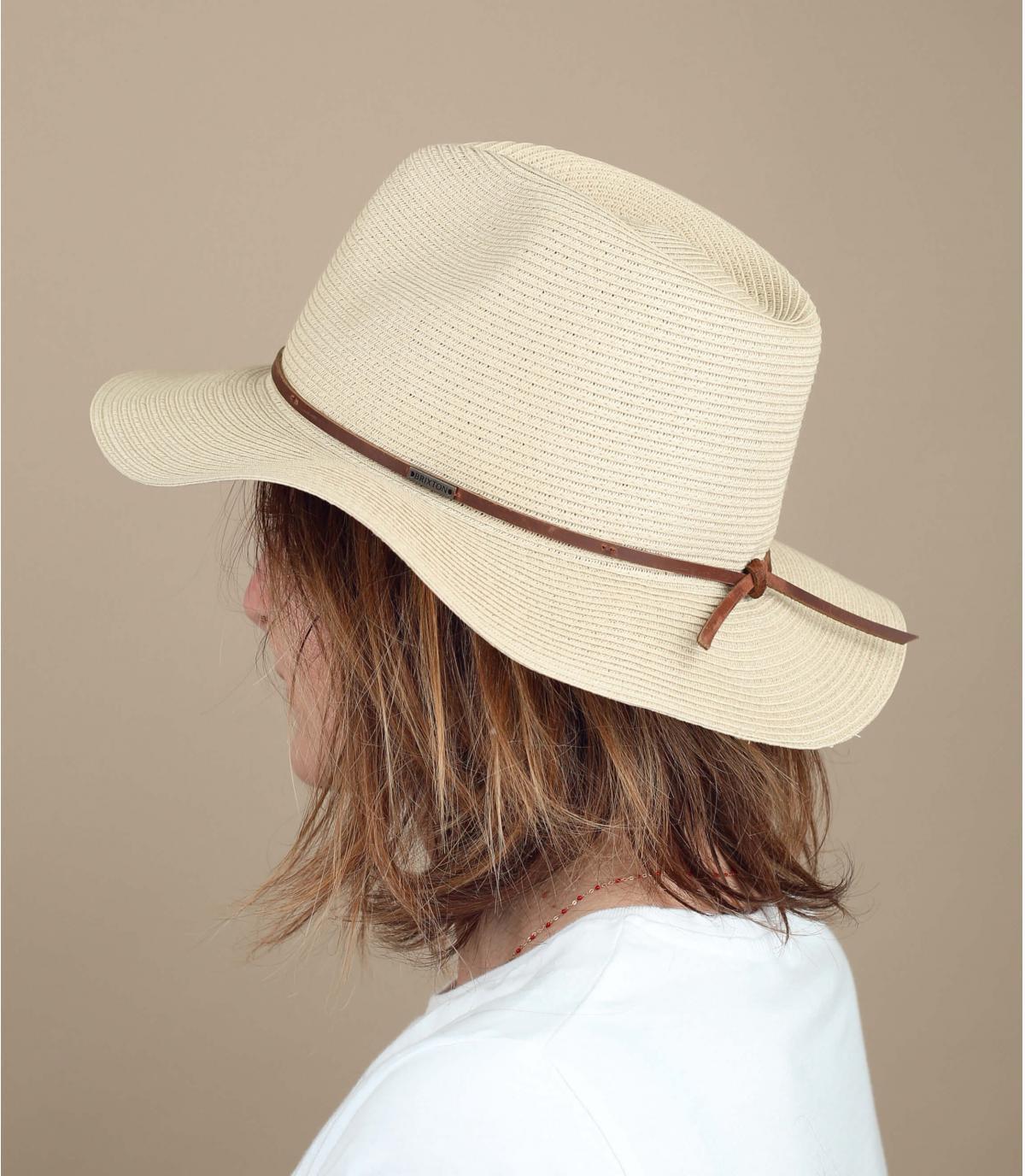 Brixton foldable straw hat
