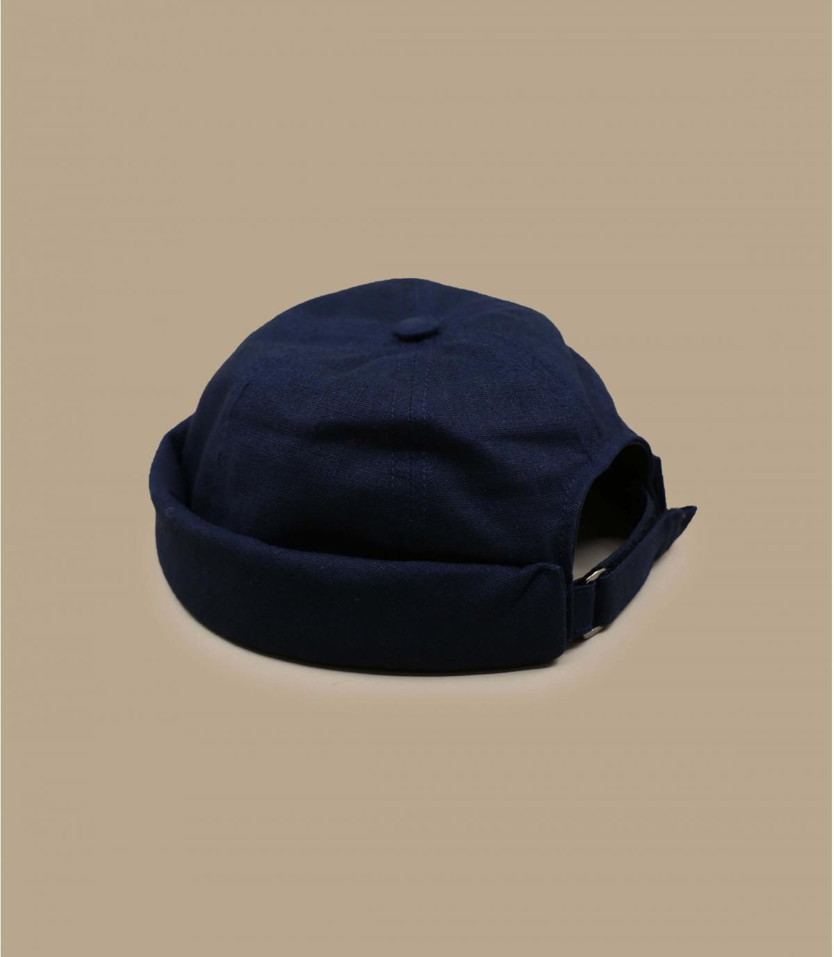 navy blue docker beanie linen