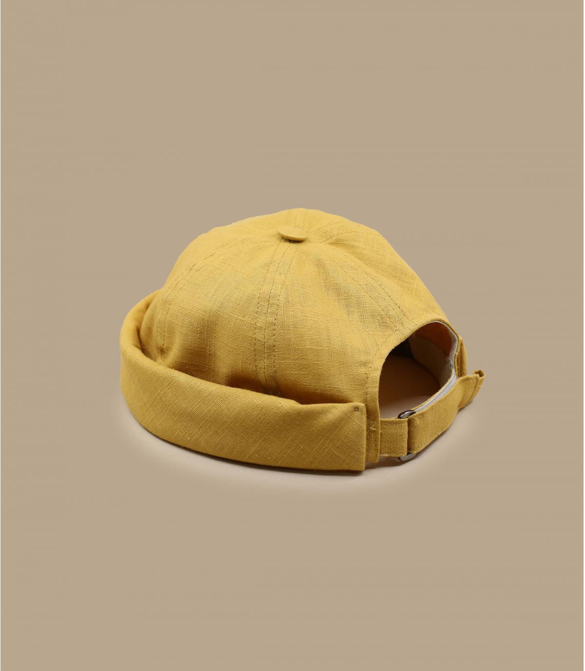 yellow docker beanie linen