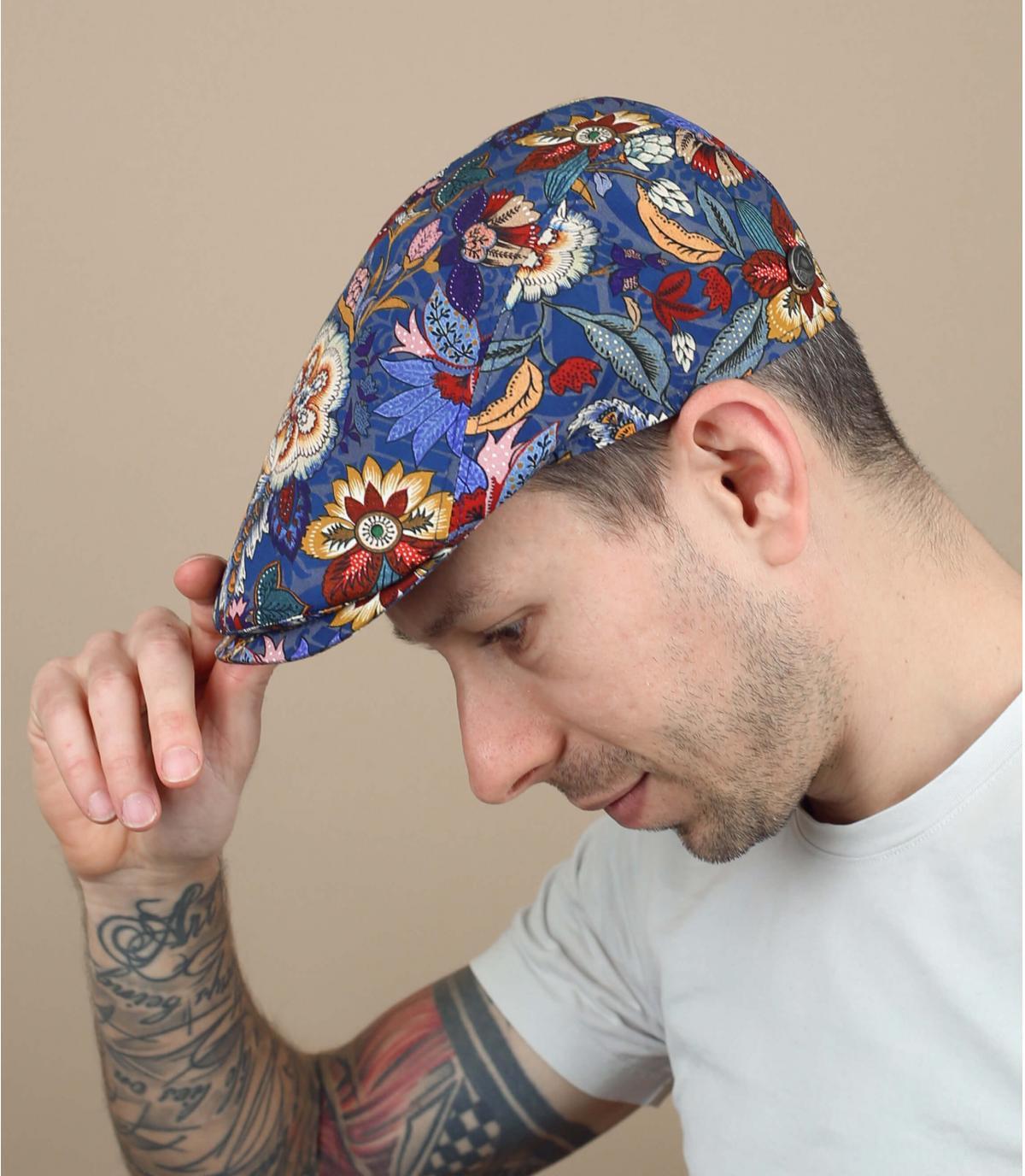 Printed flat cap
