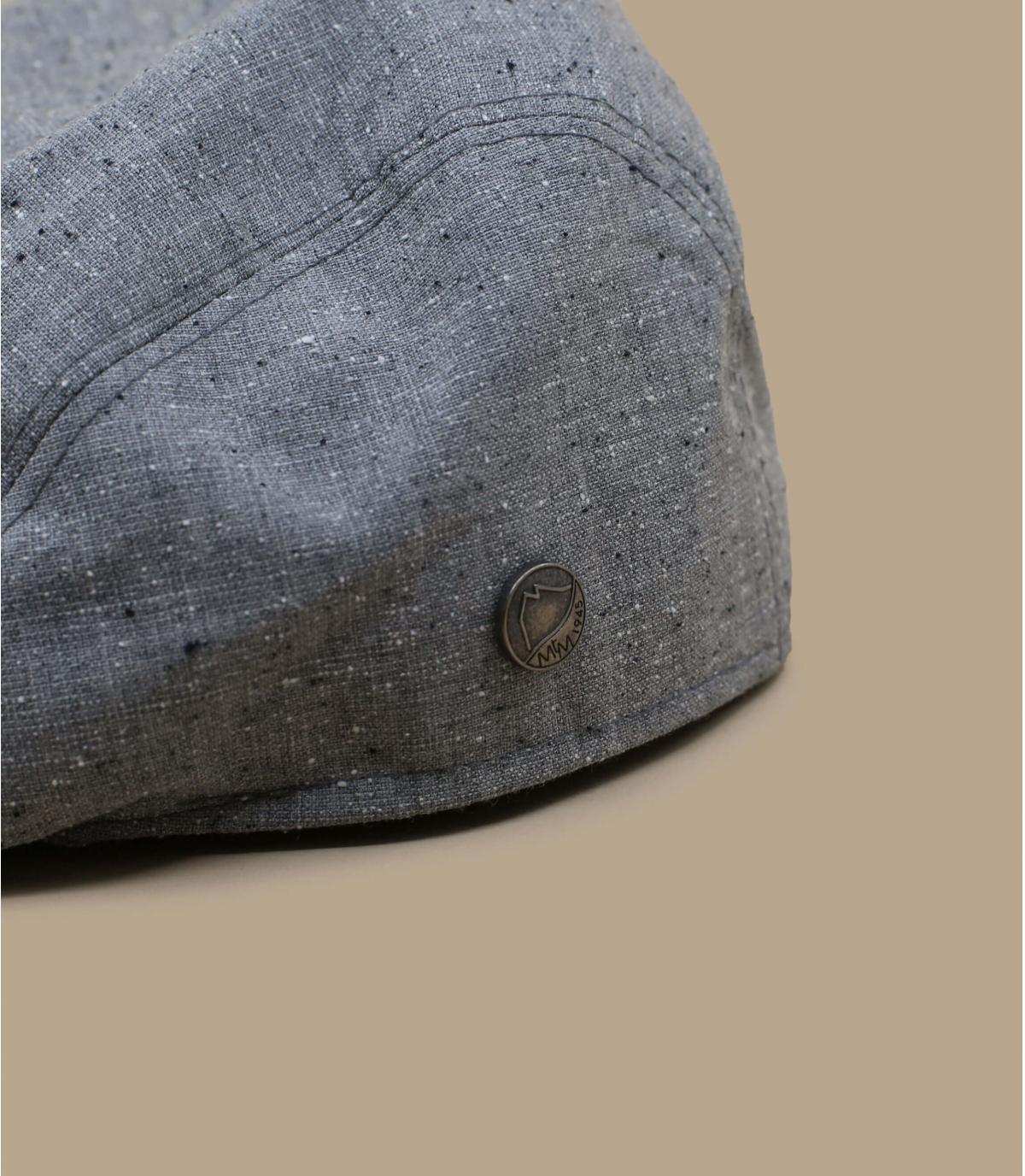 grey wool silk cap