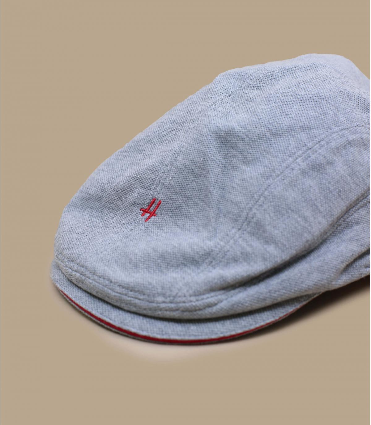 grey cotton flat cap