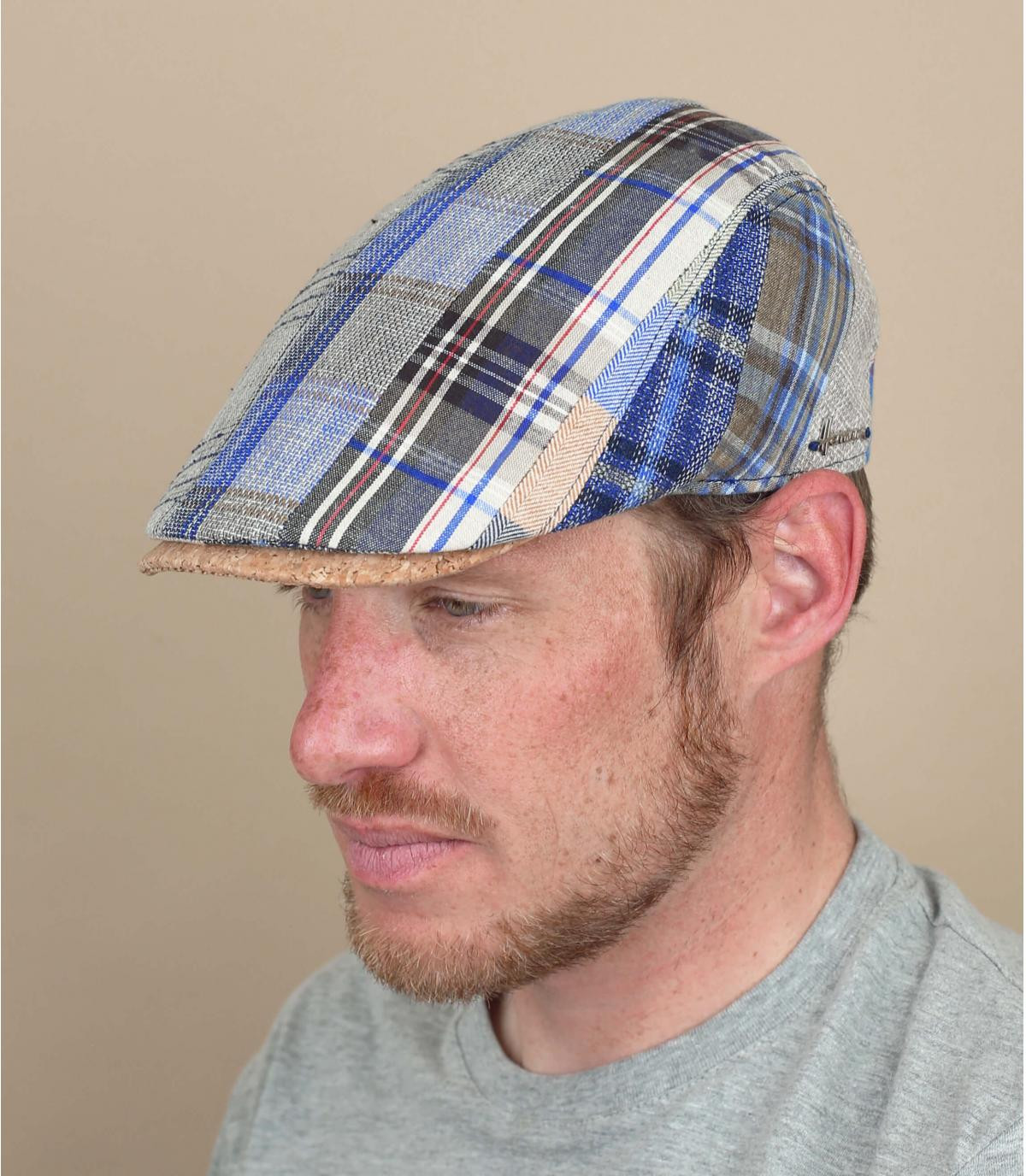 beret linen patchwork