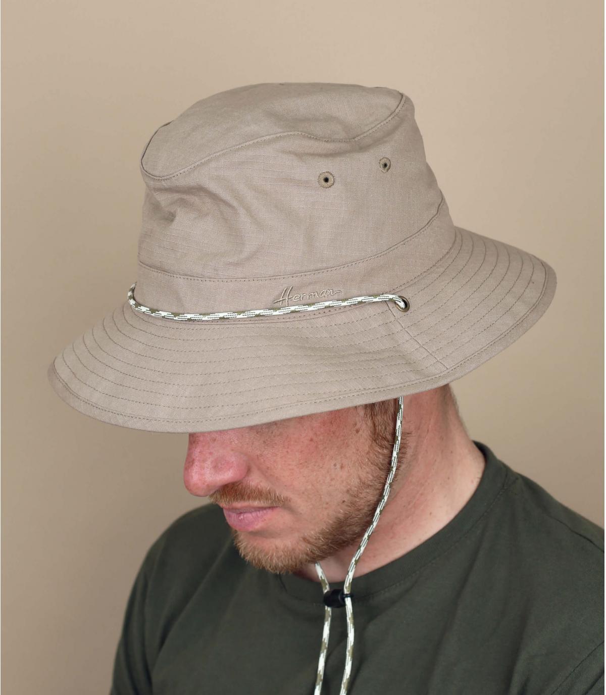 beige bucket hat cord