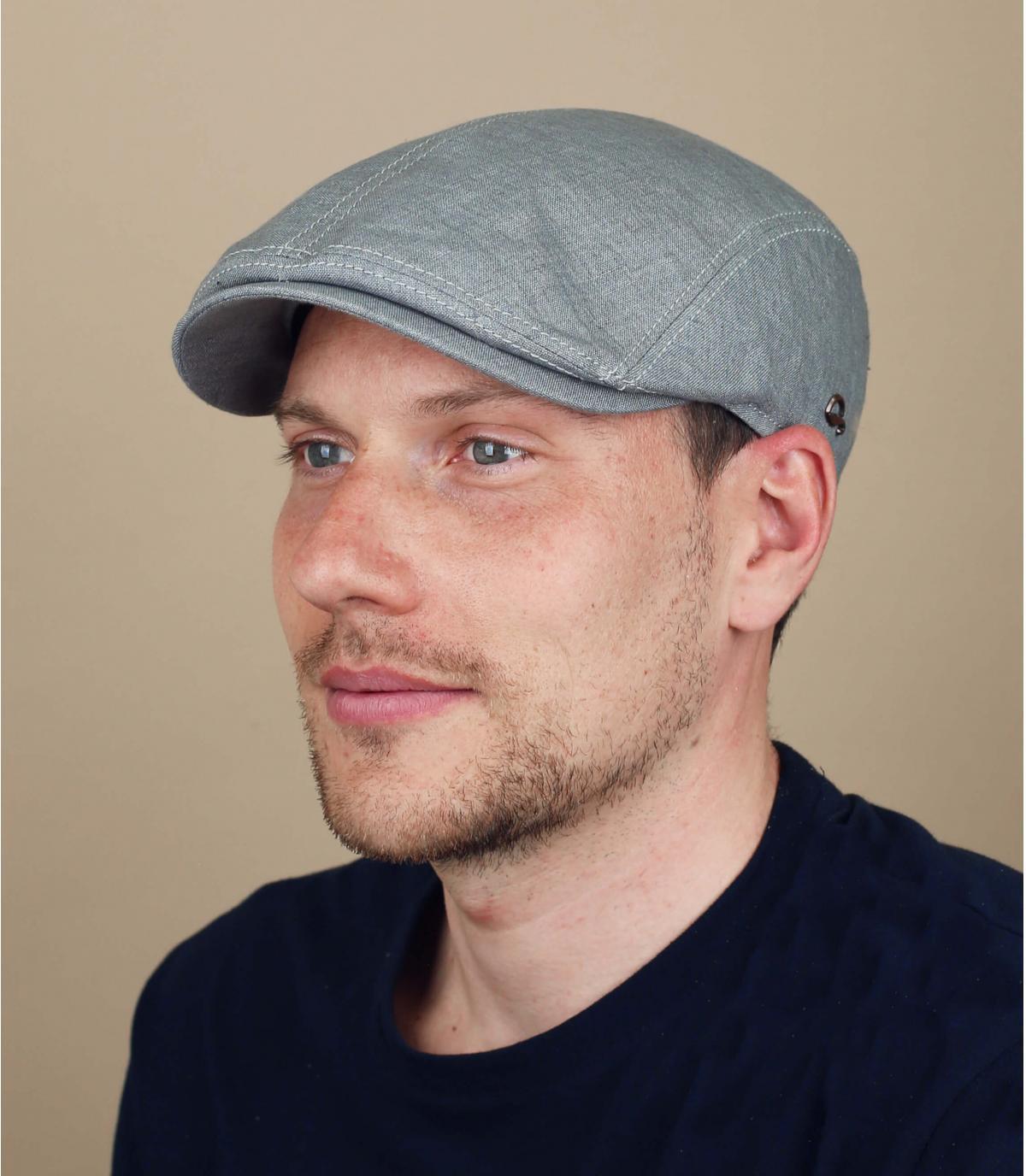 grey linen cap Göttmann