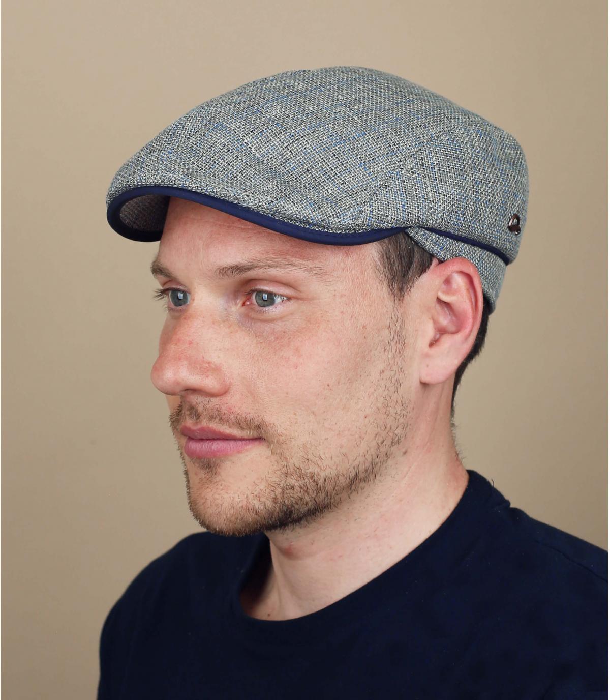grey linen beret
