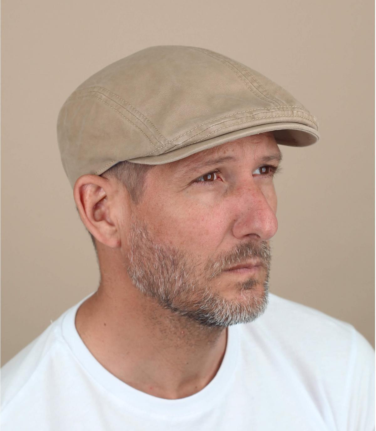 beige cotton beret Göttmann