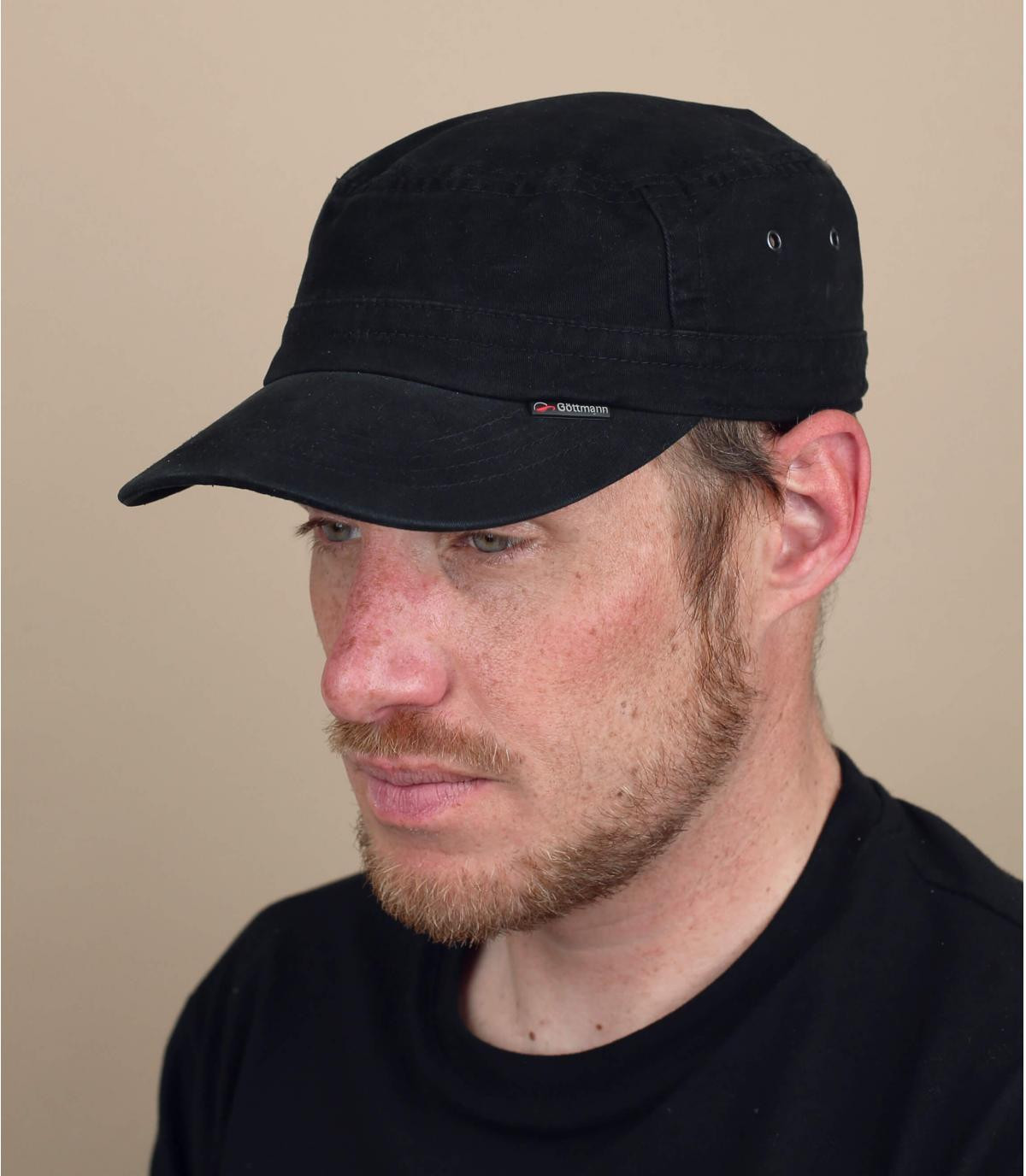 black military hat